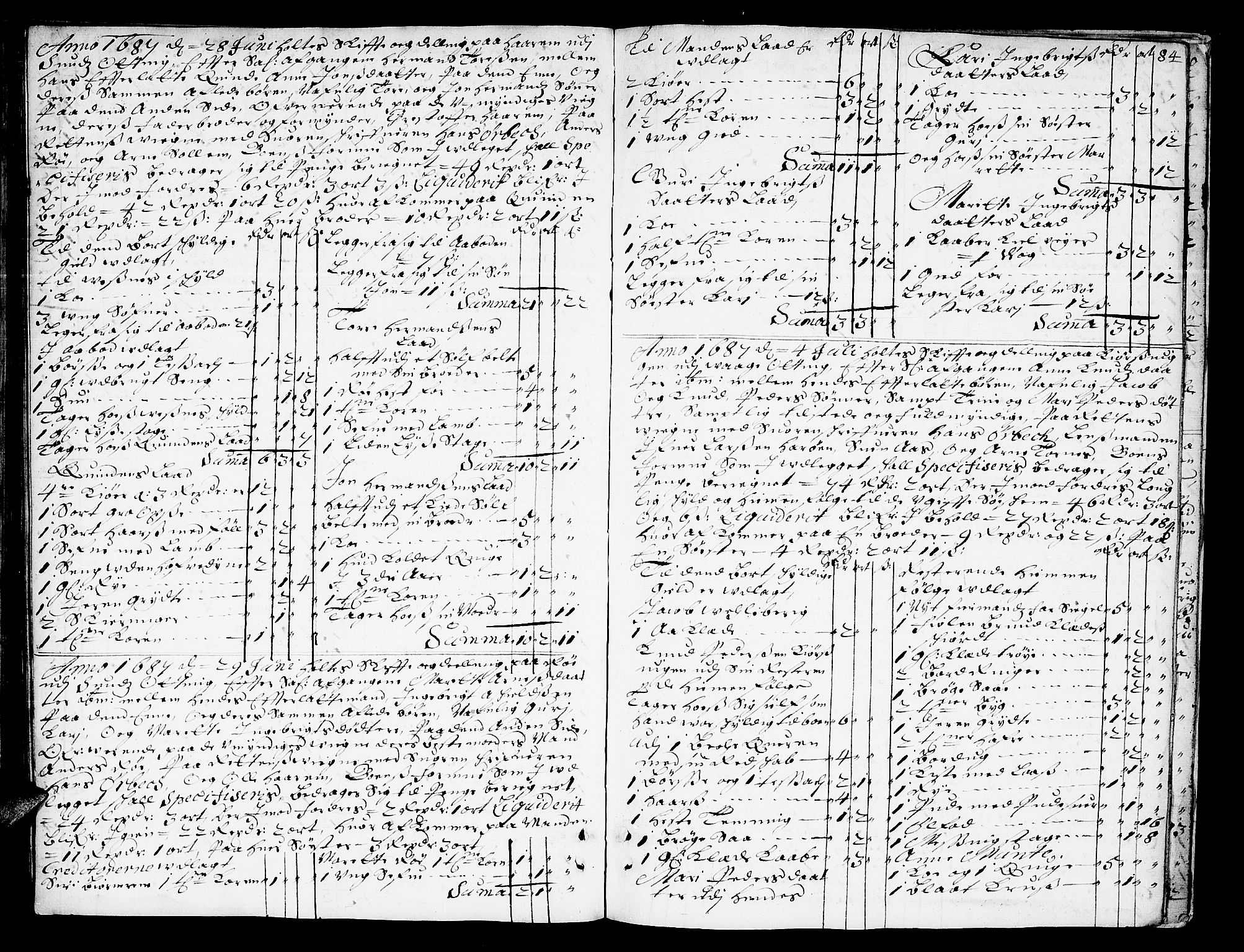 SAT, Romsdal sorenskriveri, 3/3A/L0002: Skifteprotokoll, 1683-1687, s. 83b-84a
