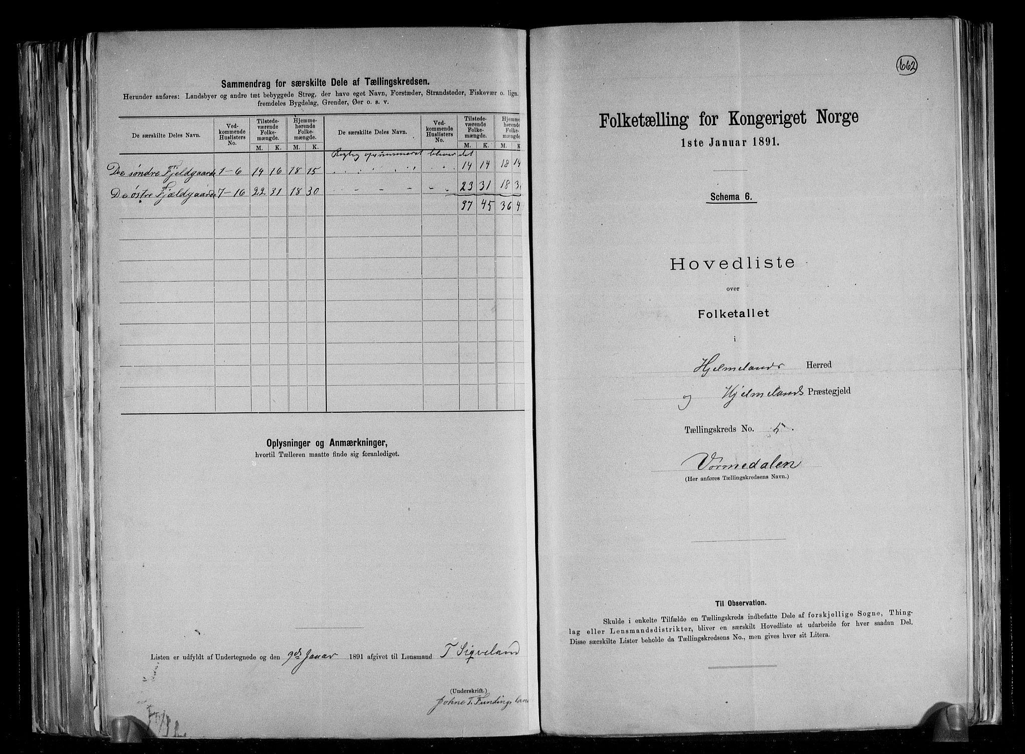 RA, Folketelling 1891 for 1133 Hjelmeland herred, 1891, s. 13