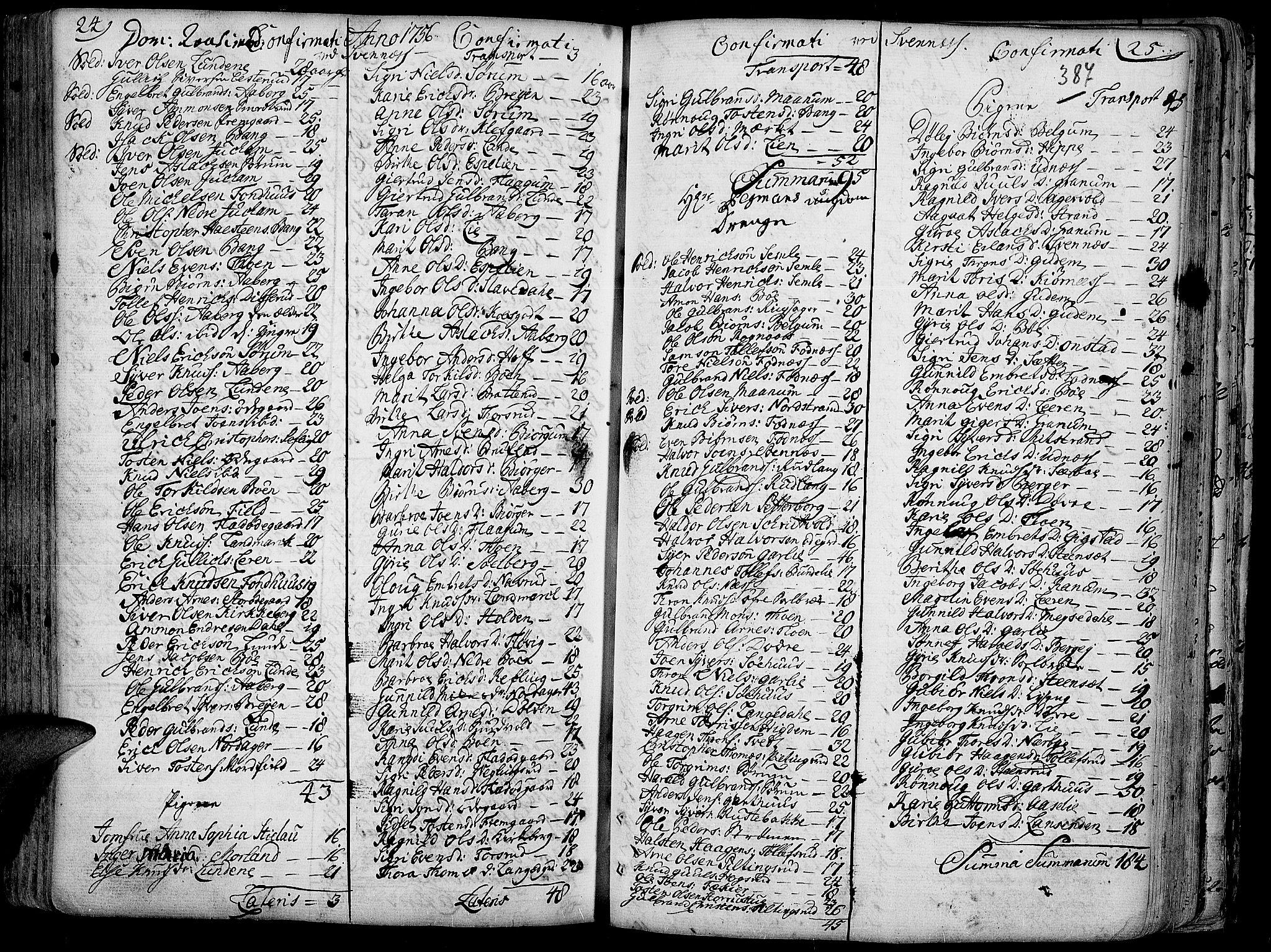 SAH, Aurdal prestekontor, Ministerialbok nr. 4, 1730-1762, s. 24-25
