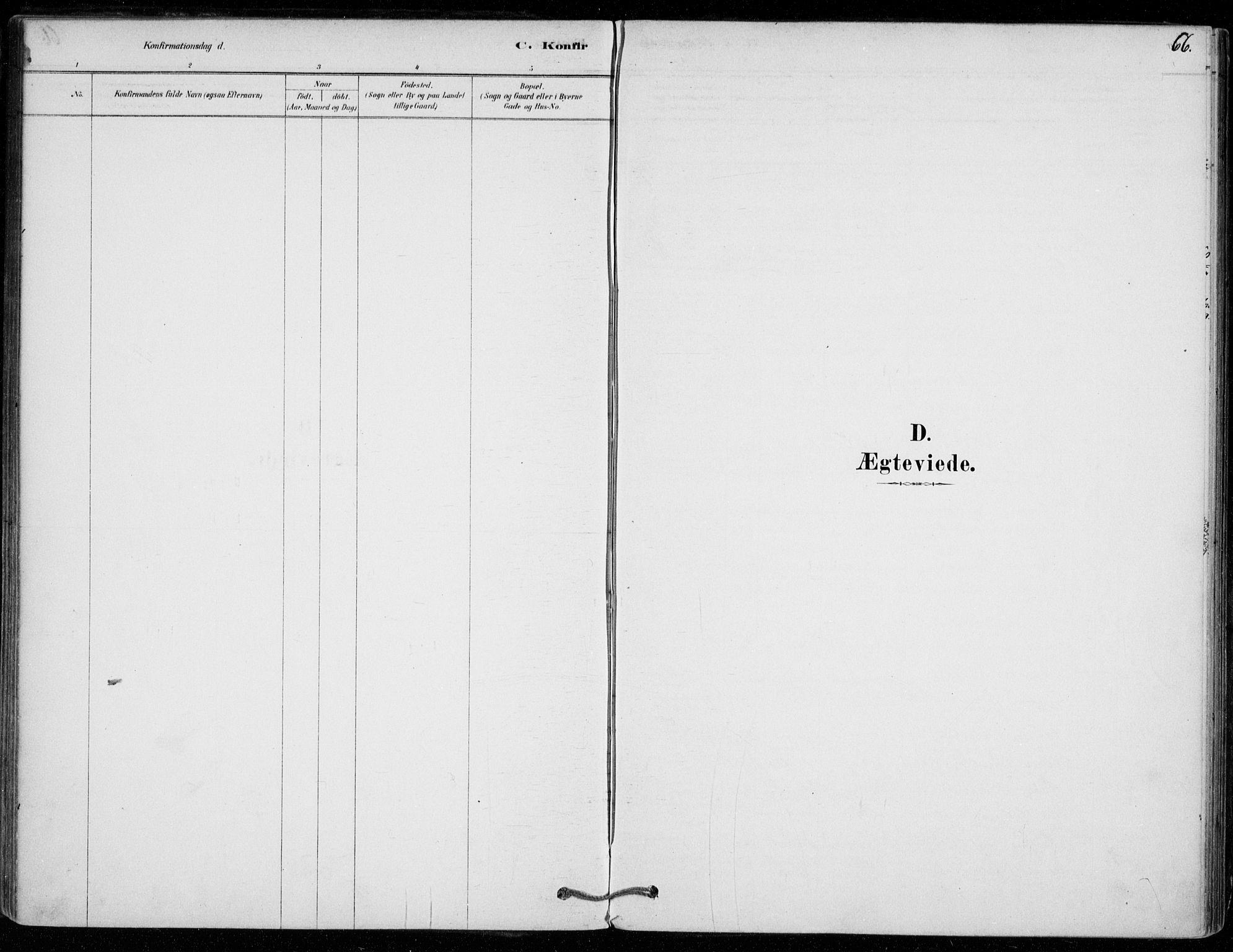SAO, Vestby prestekontor Kirkebøker, F/Fe/L0001: Ministerialbok nr. V 1, 1878-1931, s. 66