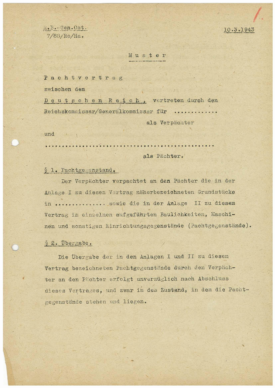 RA, Førerens og ministerpresidentens kanselli. Utenriksavdelingen, D/L0004, s. 1