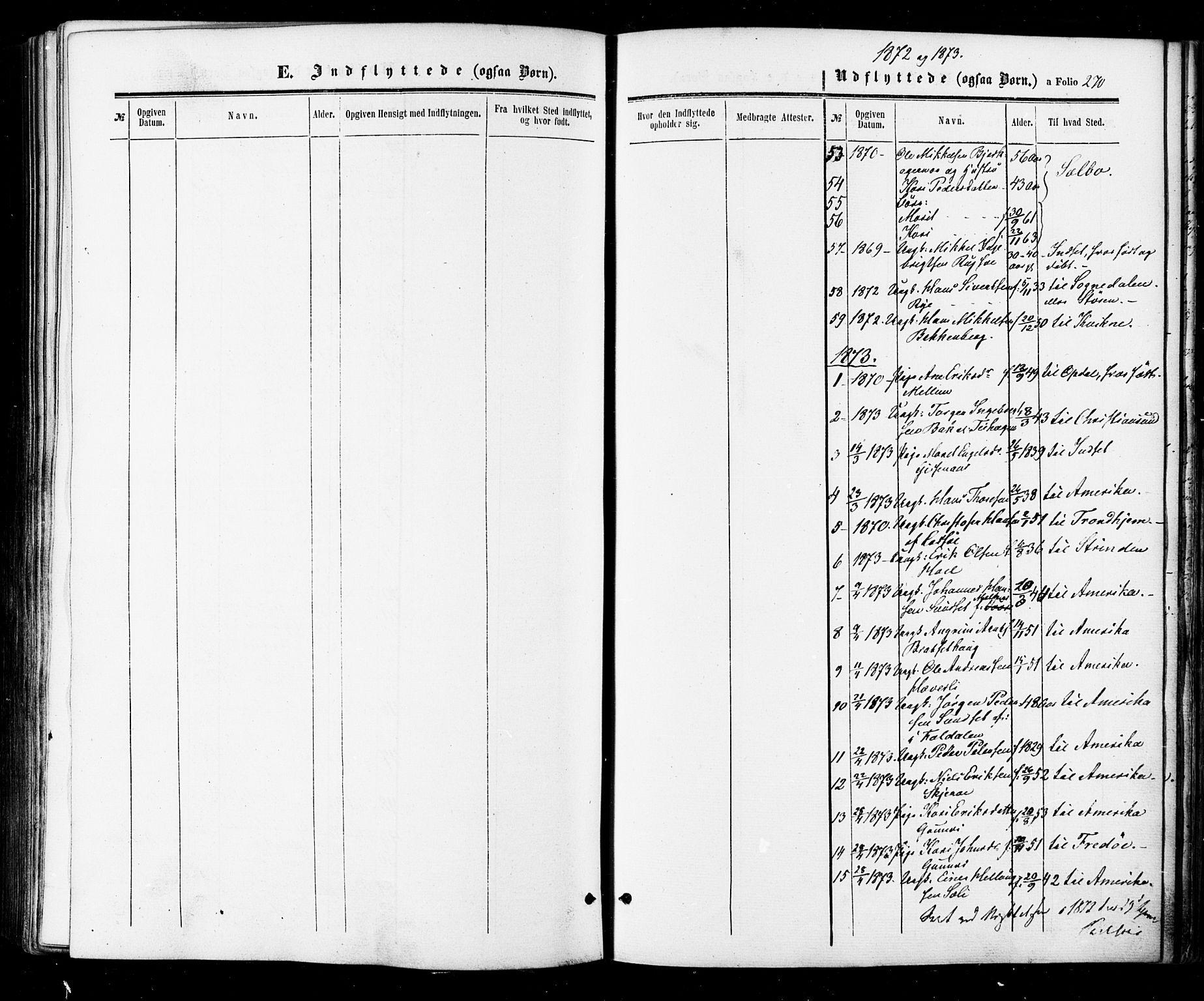 SAT, Ministerialprotokoller, klokkerbøker og fødselsregistre - Sør-Trøndelag, 674/L0870: Ministerialbok nr. 674A02, 1861-1879, s. 270