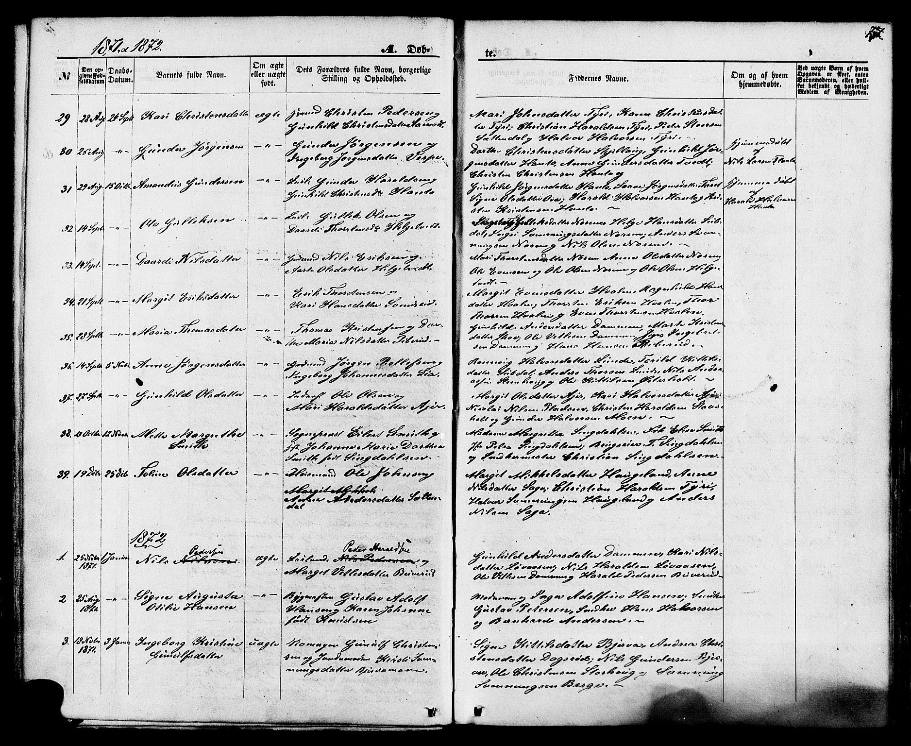 SAKO, Lunde kirkebøker, F/Fa/L0001: Ministerialbok nr. I 1, 1866-1883, s. 17