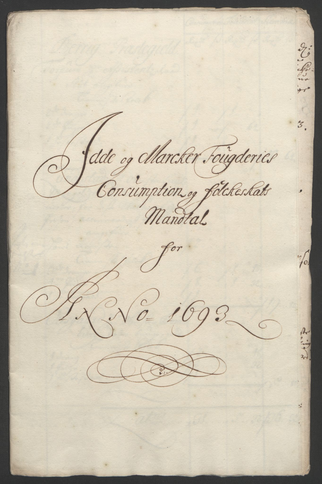 RA, Rentekammeret inntil 1814, Reviderte regnskaper, Fogderegnskap, R01/L0011: Fogderegnskap Idd og Marker, 1692-1693, s. 295