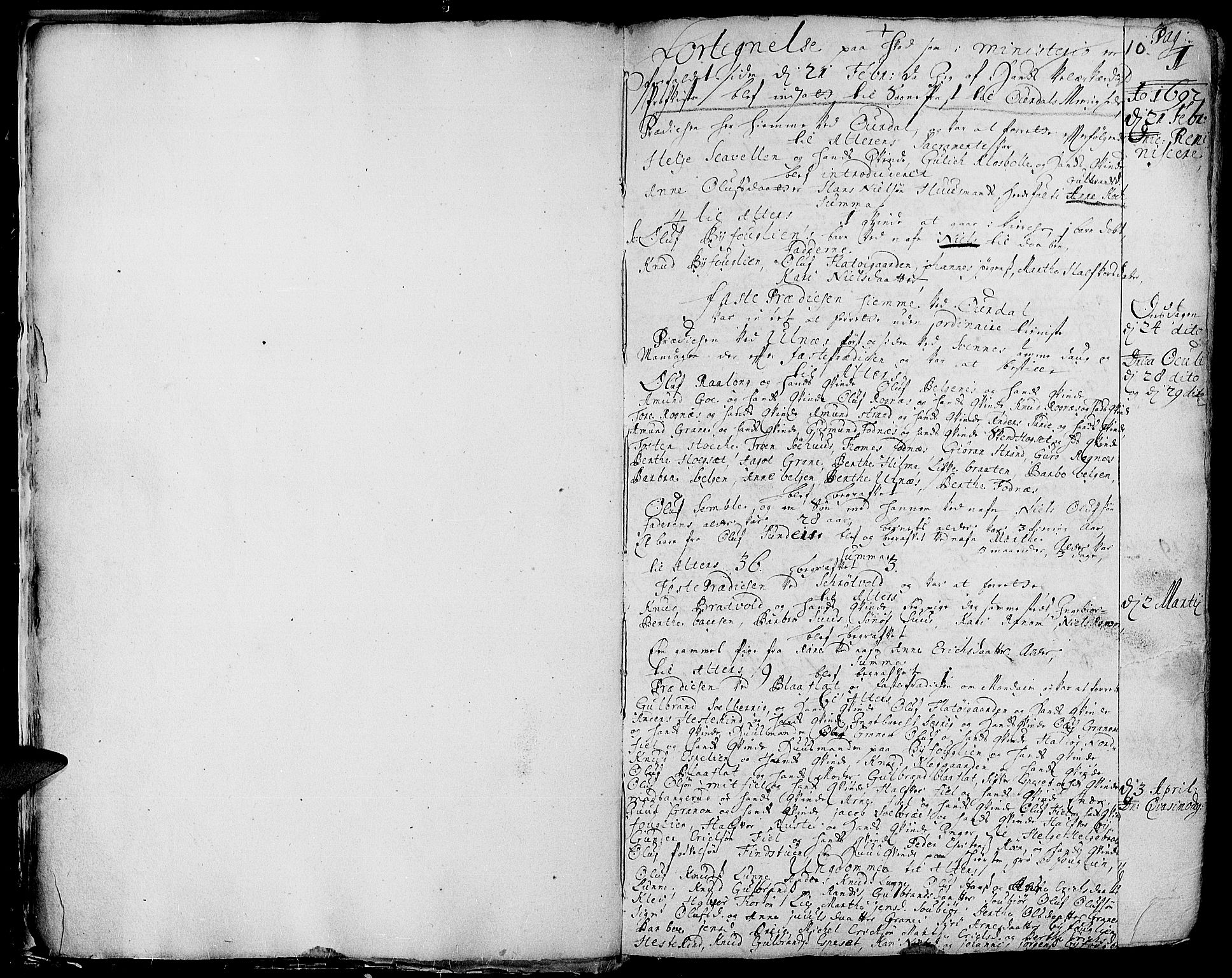 SAH, Aurdal prestekontor, Ministerialbok nr. 1-3, 1692-1730, s. 10