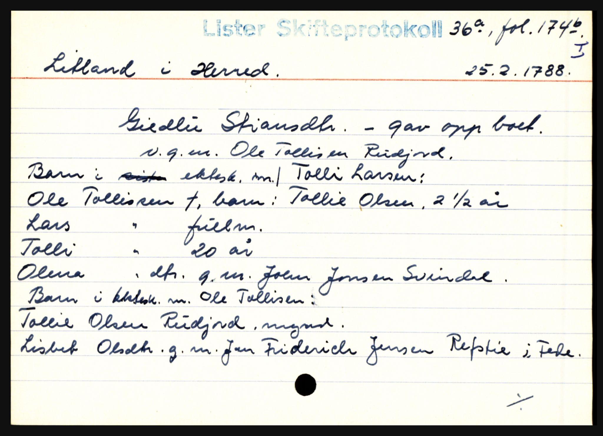 SAK, Lister sorenskriveri, H, s. 23953