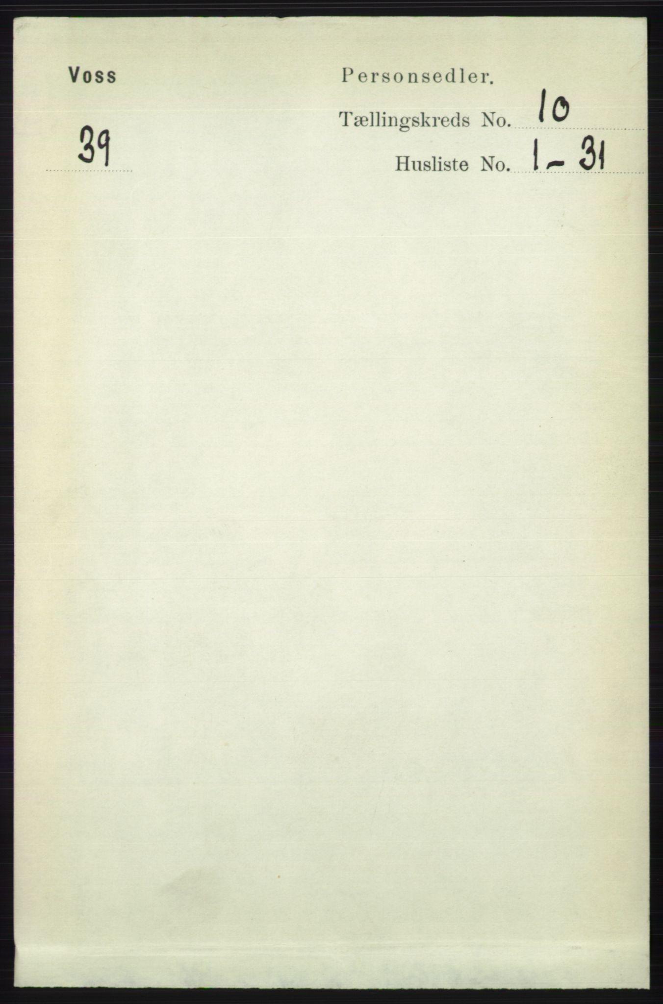 RA, Folketelling 1891 for 1235 Voss herred, 1891, s. 5209