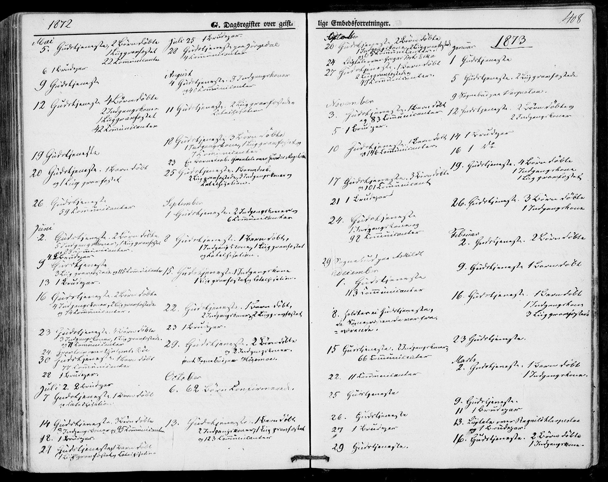 SAKO, Bø kirkebøker, F/Fa/L0009: Ministerialbok nr. 9, 1862-1879, s. 408