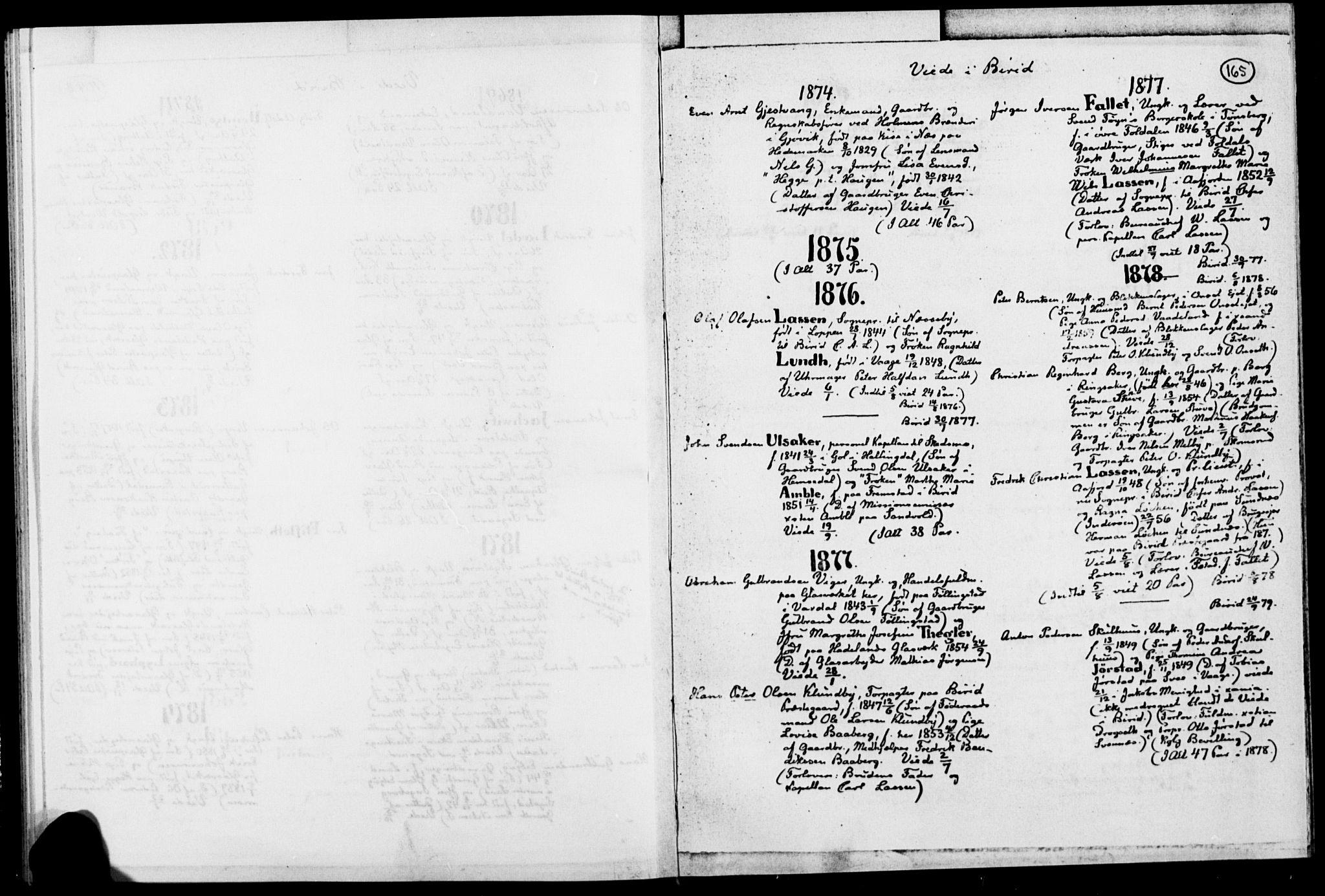 SAH, Biri prestekontor, Ministerialbok, 1730-1879, s. 165