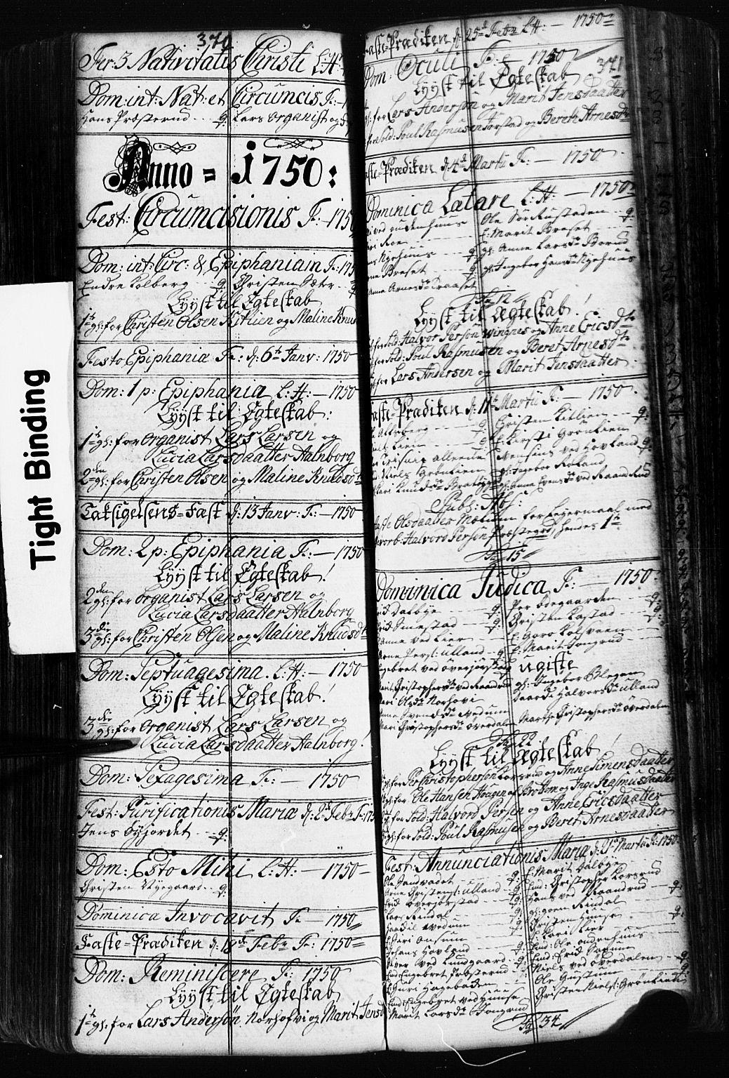 SAH, Fåberg prestekontor, Klokkerbok nr. 2, 1741-1756, s. 370-371