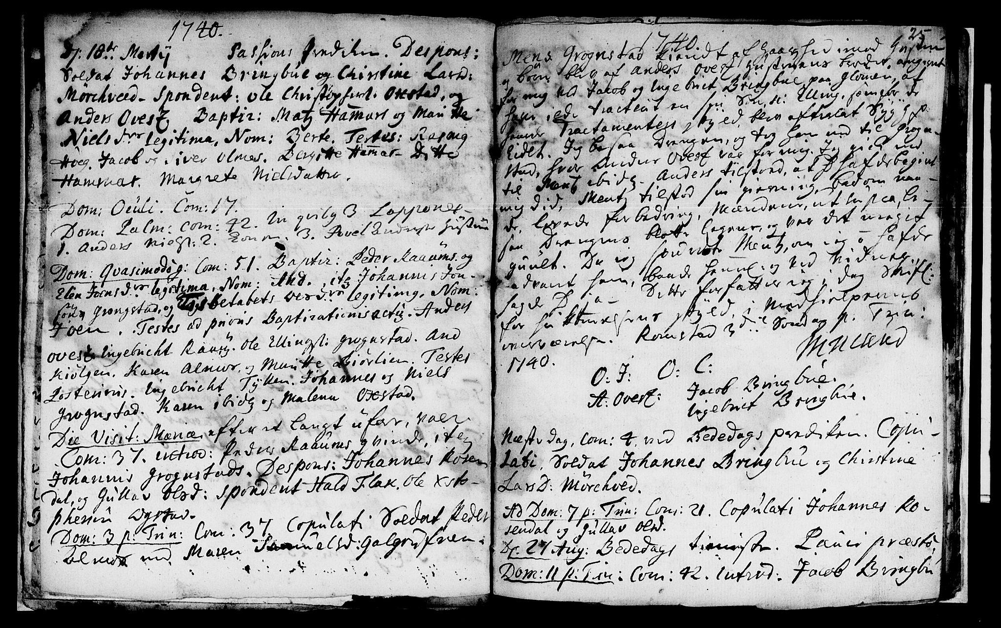 SAT, Ministerialprotokoller, klokkerbøker og fødselsregistre - Nord-Trøndelag, 765/L0560: Ministerialbok nr. 765A01, 1706-1748, s. 25
