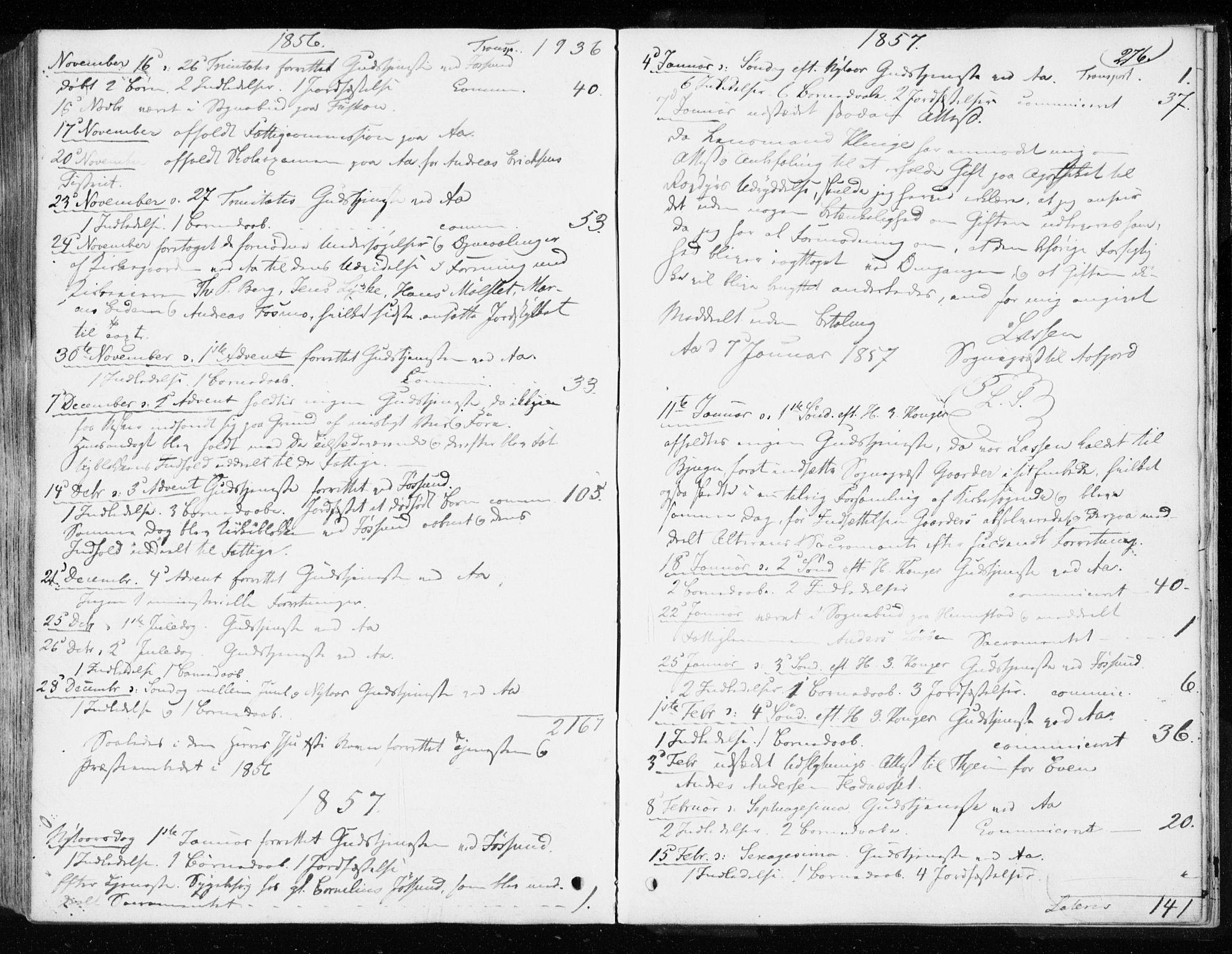 SAT, Ministerialprotokoller, klokkerbøker og fødselsregistre - Sør-Trøndelag, 655/L0677: Ministerialbok nr. 655A06, 1847-1860, s. 276