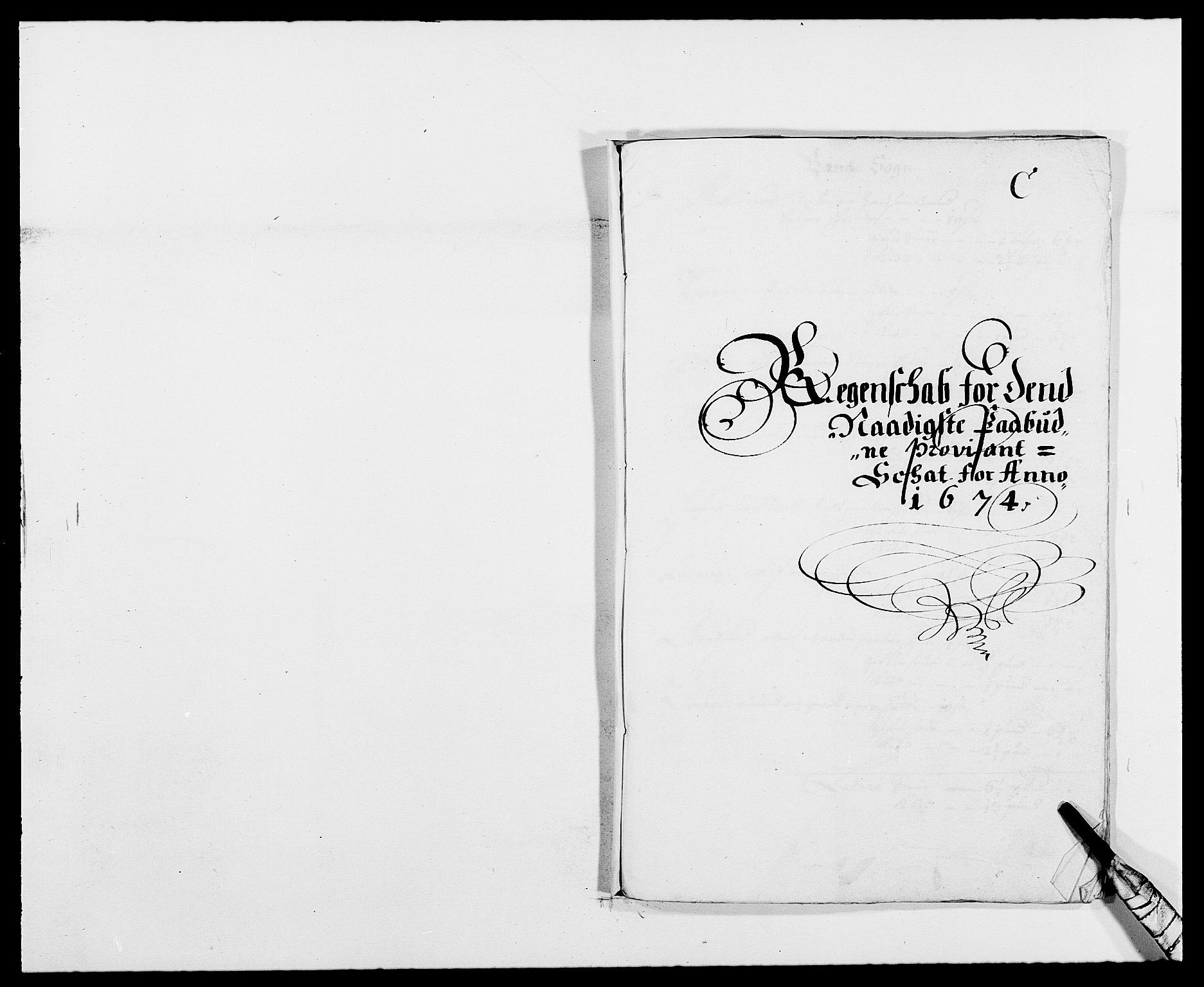 RA, Rentekammeret inntil 1814, Reviderte regnskaper, Fogderegnskap, R34/L2042: Fogderegnskap Bamble, 1673-1675, s. 200