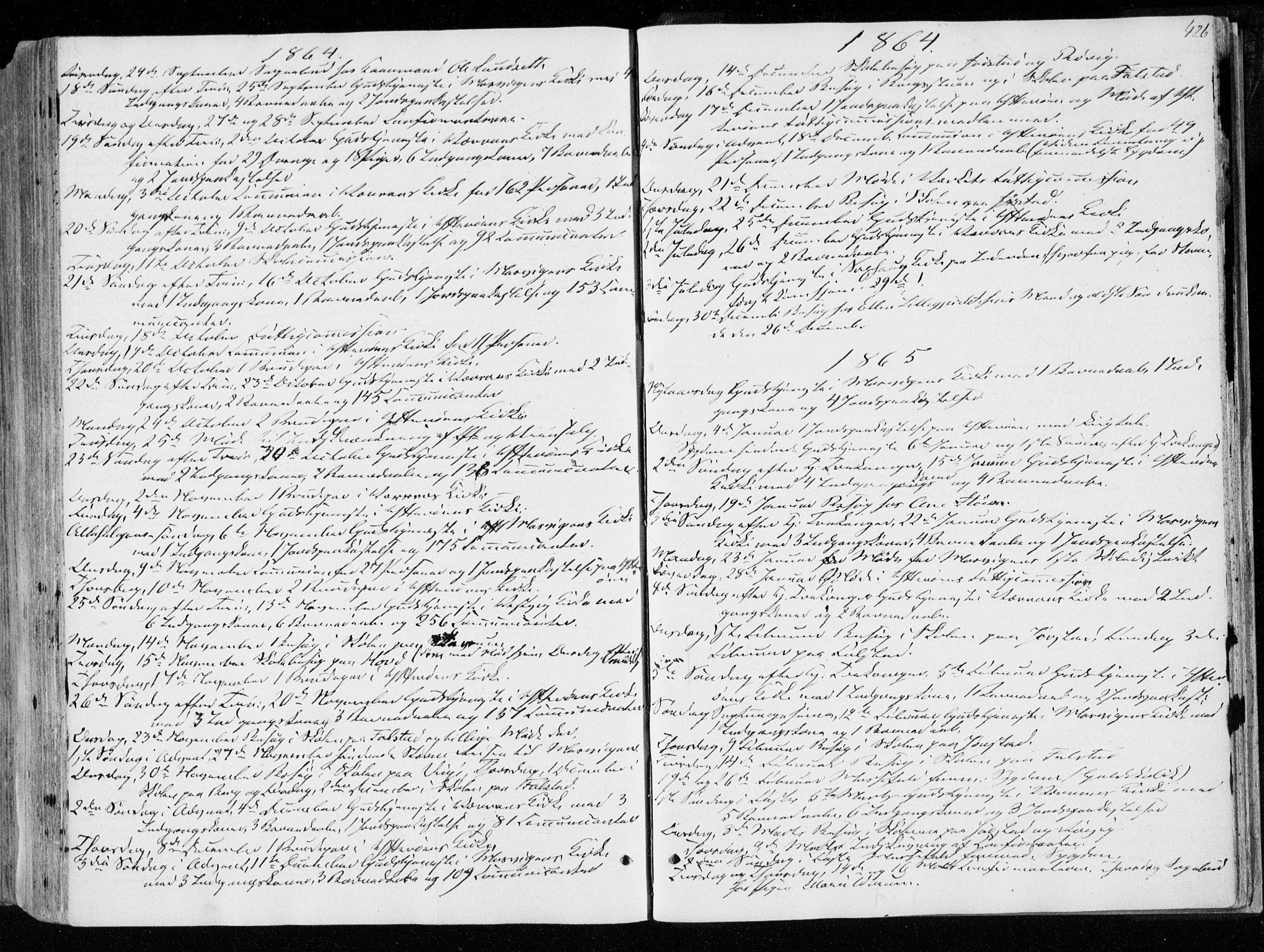 SAT, Ministerialprotokoller, klokkerbøker og fødselsregistre - Nord-Trøndelag, 722/L0218: Ministerialbok nr. 722A05, 1843-1868, s. 426