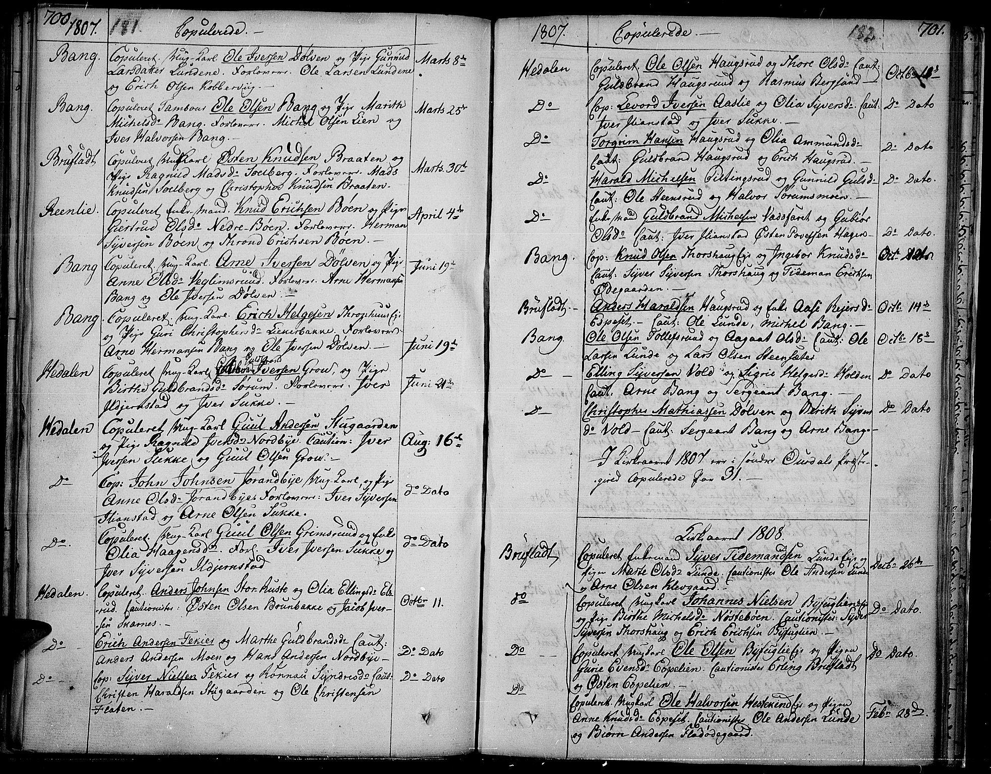 SAH, Sør-Aurdal prestekontor, Ministerialbok nr. 1, 1807-1815, s. 181-182