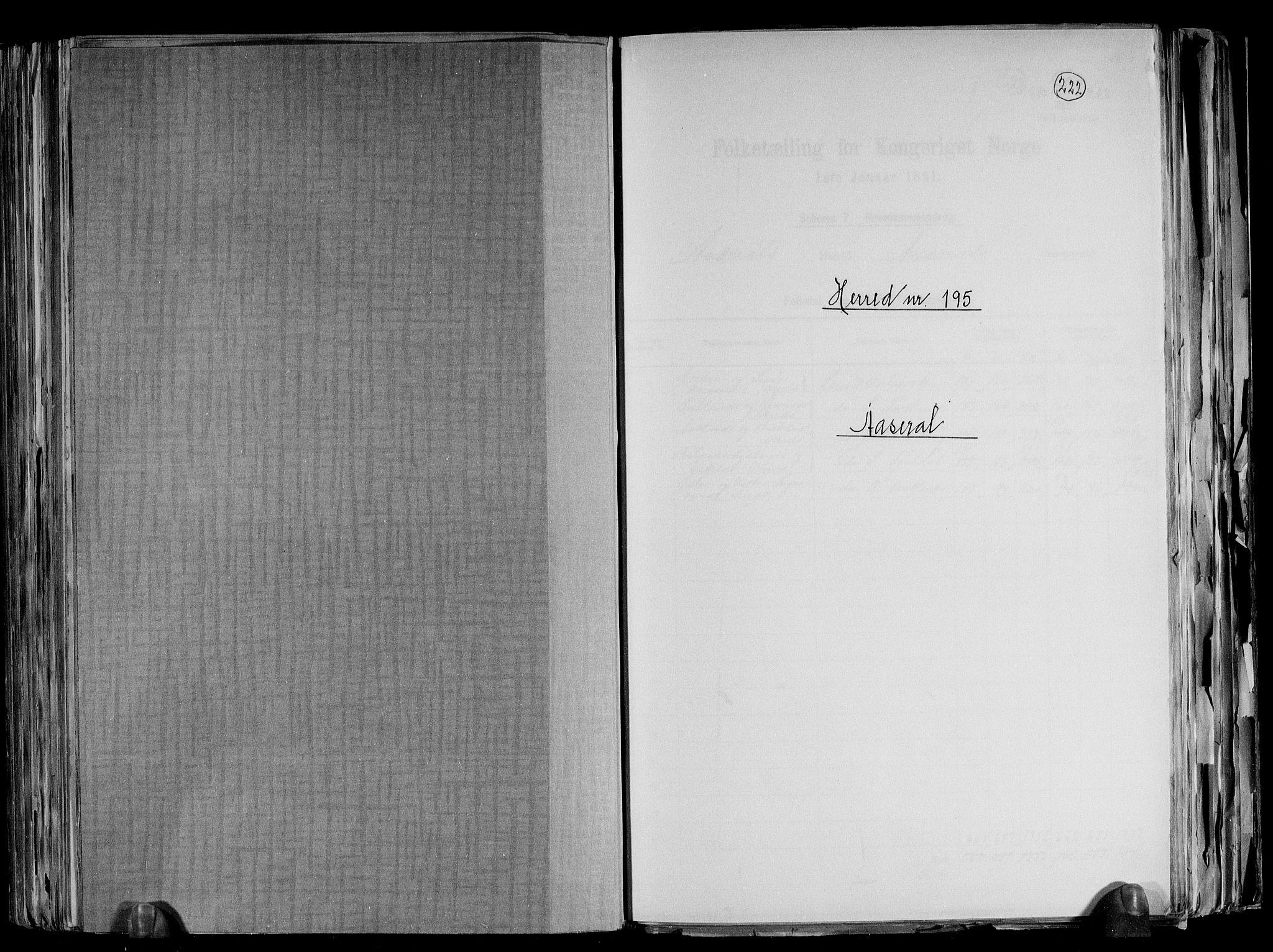 RA, Folketelling 1891 for 1026 Åseral herred, 1891, s. 1
