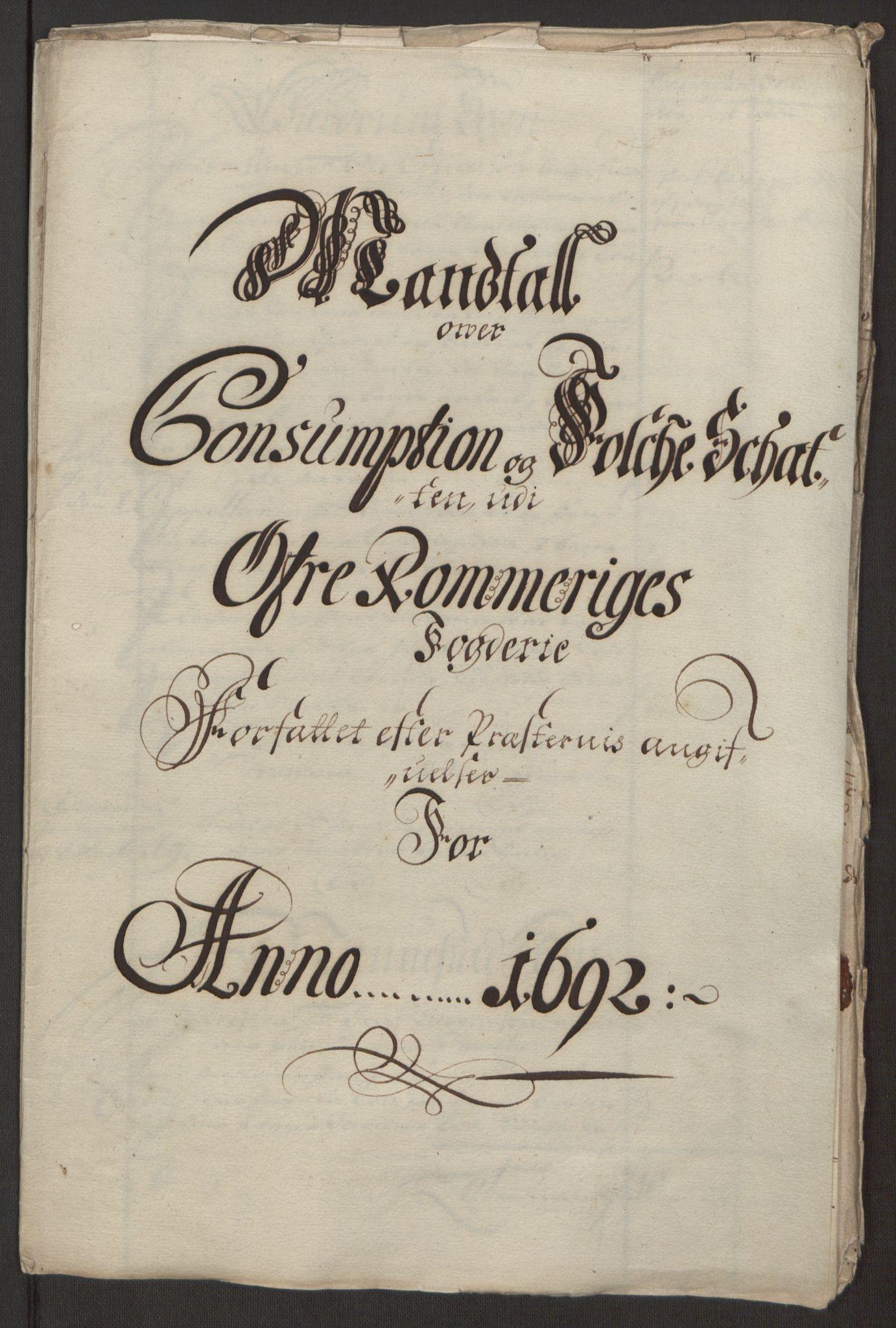 RA, Rentekammeret inntil 1814, Reviderte regnskaper, Fogderegnskap, R12/L0704: Fogderegnskap Øvre Romerike, 1692, s. 234