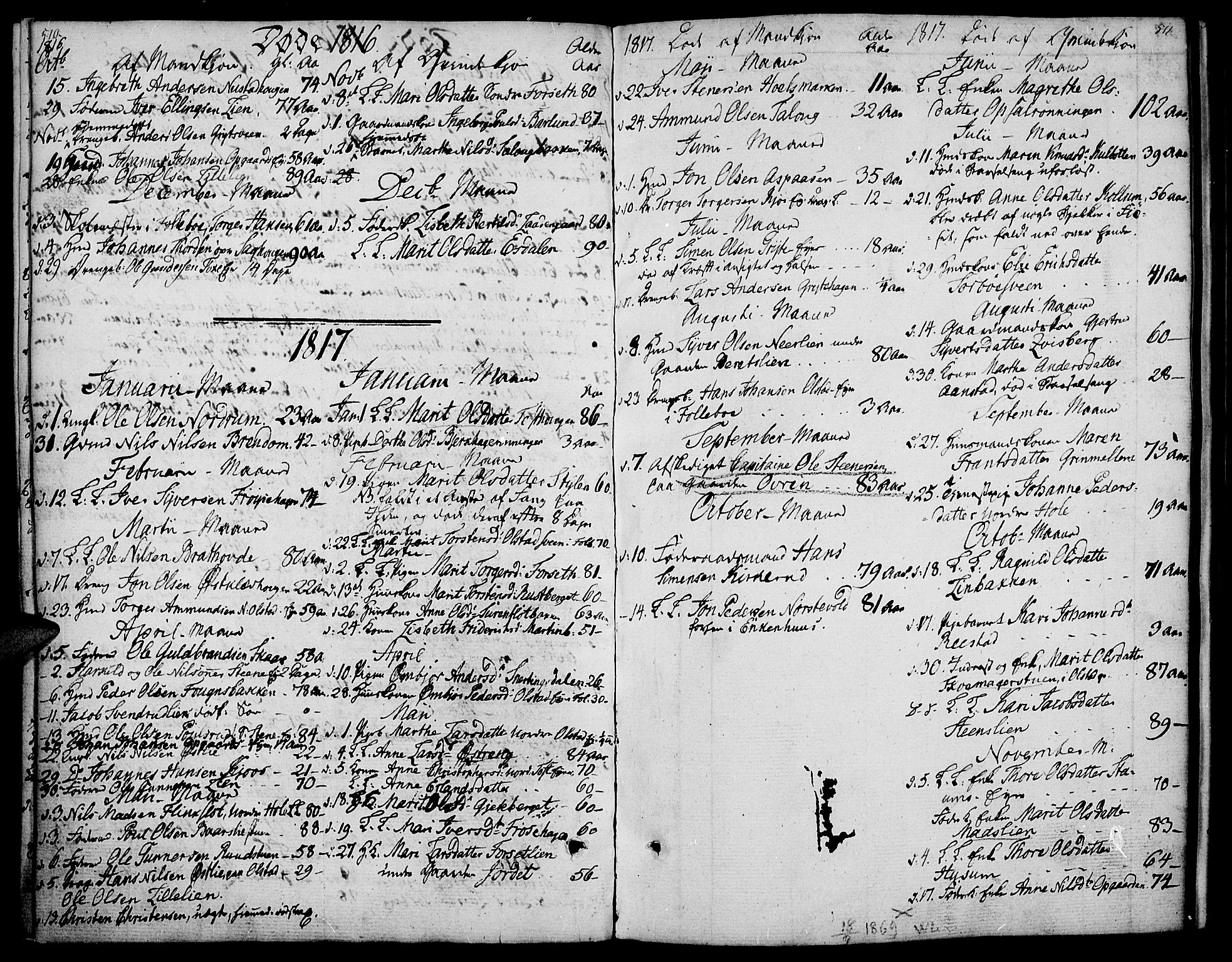 SAH, Gausdal prestekontor, Ministerialbok nr. 4, 1809-1817, s. 510-511