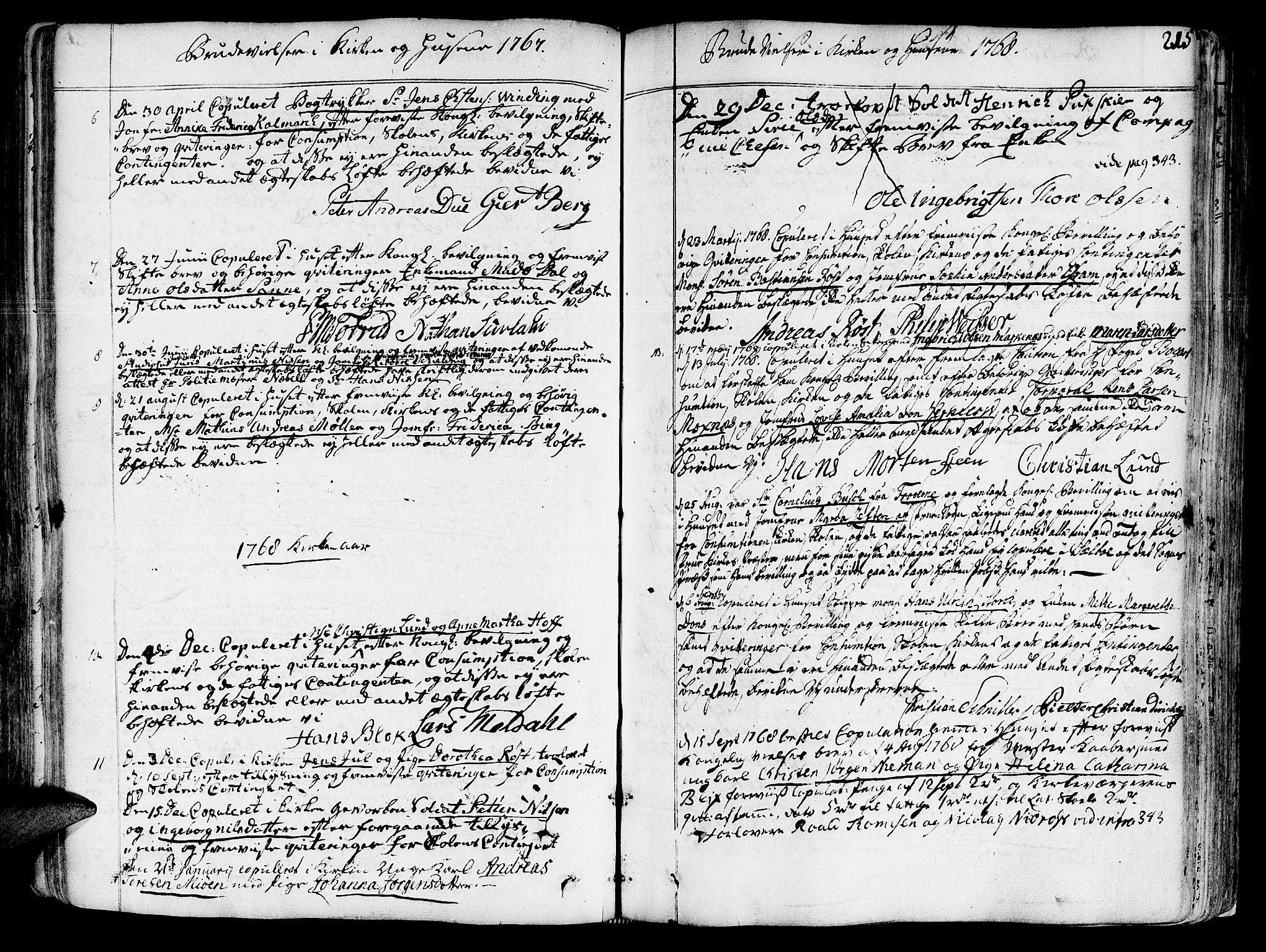 SAT, Ministerialprotokoller, klokkerbøker og fødselsregistre - Sør-Trøndelag, 602/L0103: Ministerialbok nr. 602A01, 1732-1774, s. 215