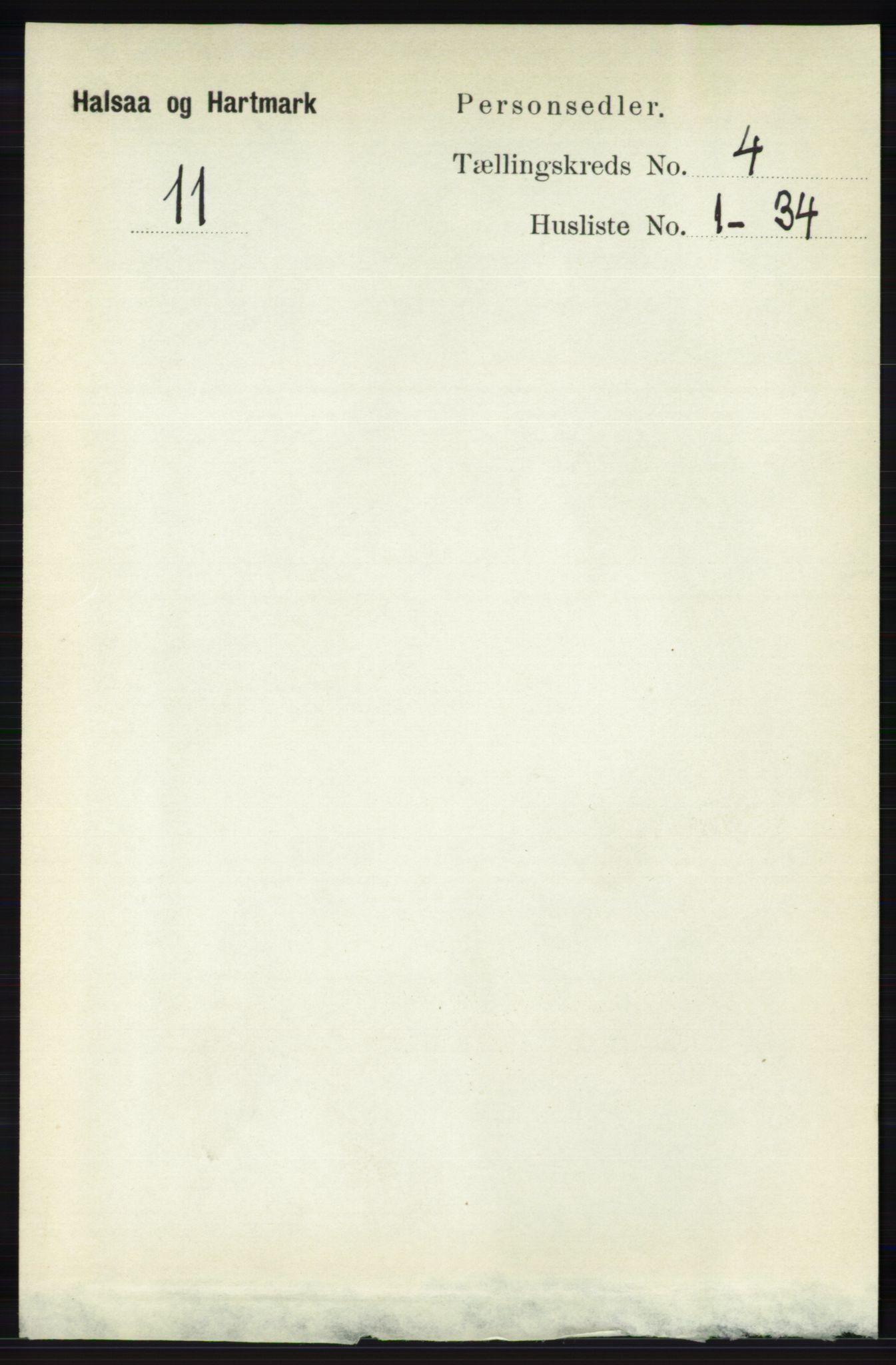 RA, Folketelling 1891 for 1019 Halse og Harkmark herred, 1891, s. 1491