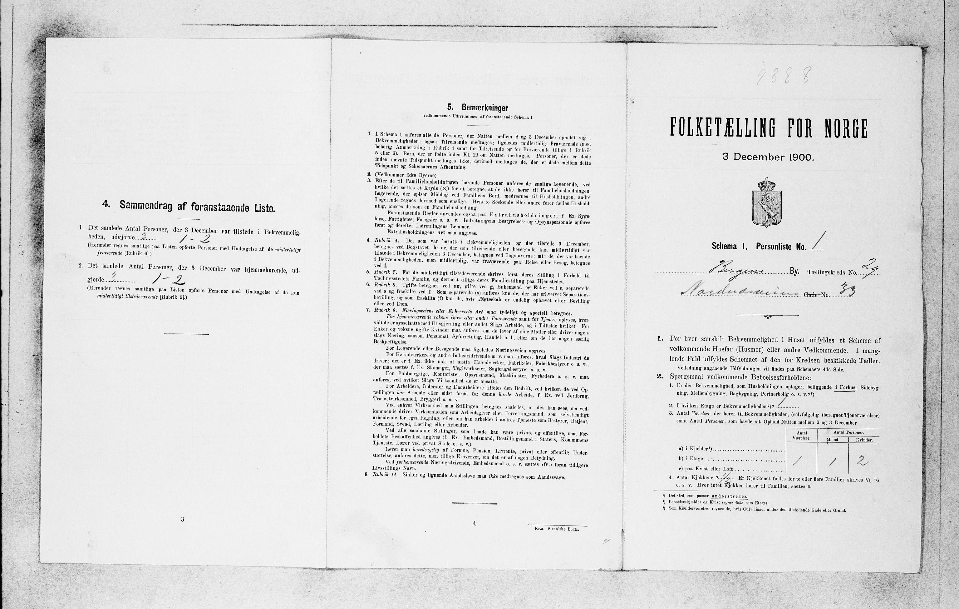 SAB, Folketelling 1900 for 1301 Bergen kjøpstad, 1900, s. 6262