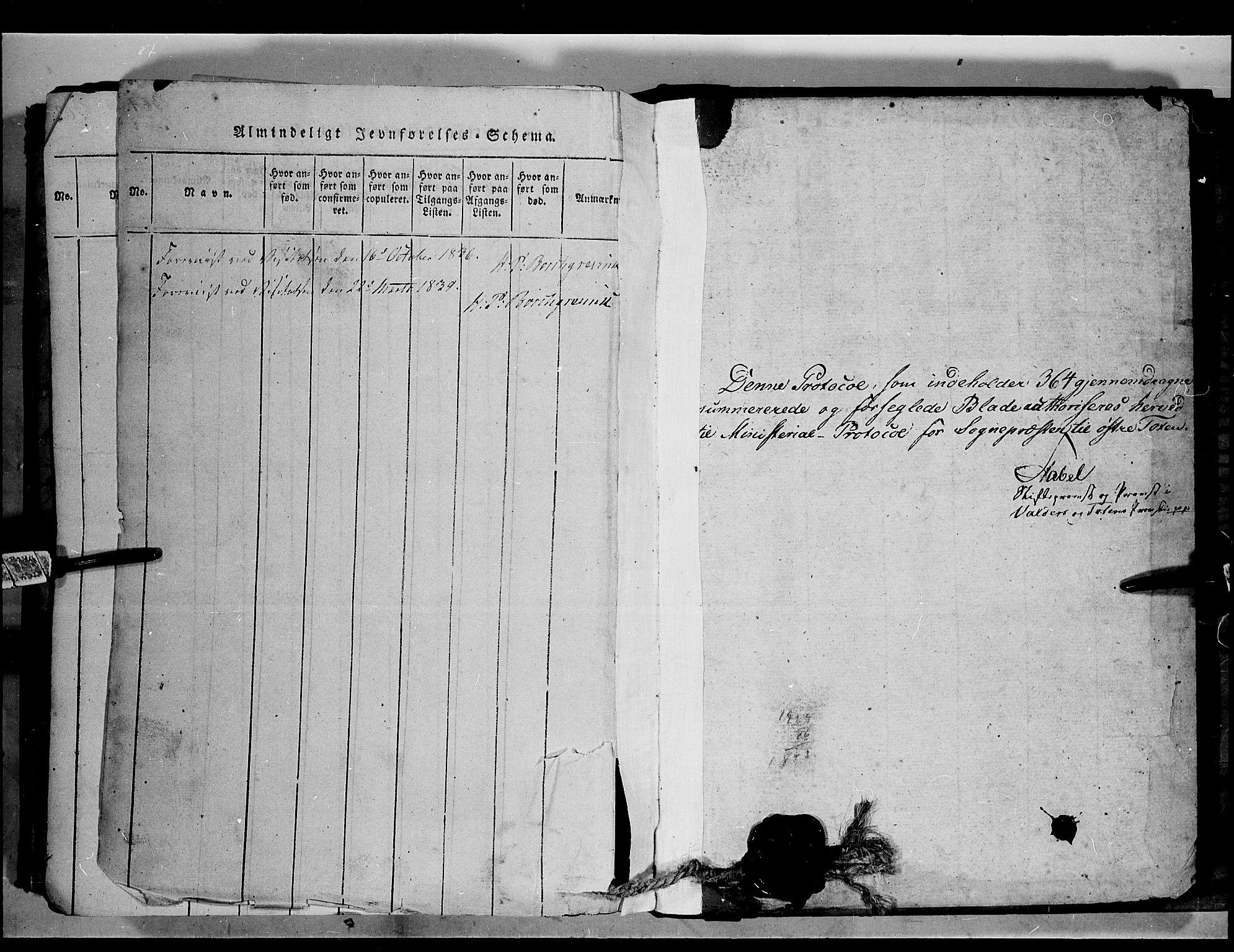 SAH, Østre Toten prestekontor, Ministerialbok nr. 1, 1828-1839
