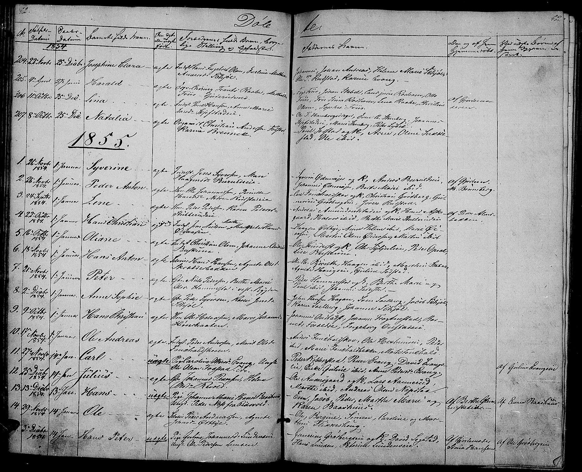 SAH, Østre Toten prestekontor, Klokkerbok nr. 3, 1848-1857, s. 52