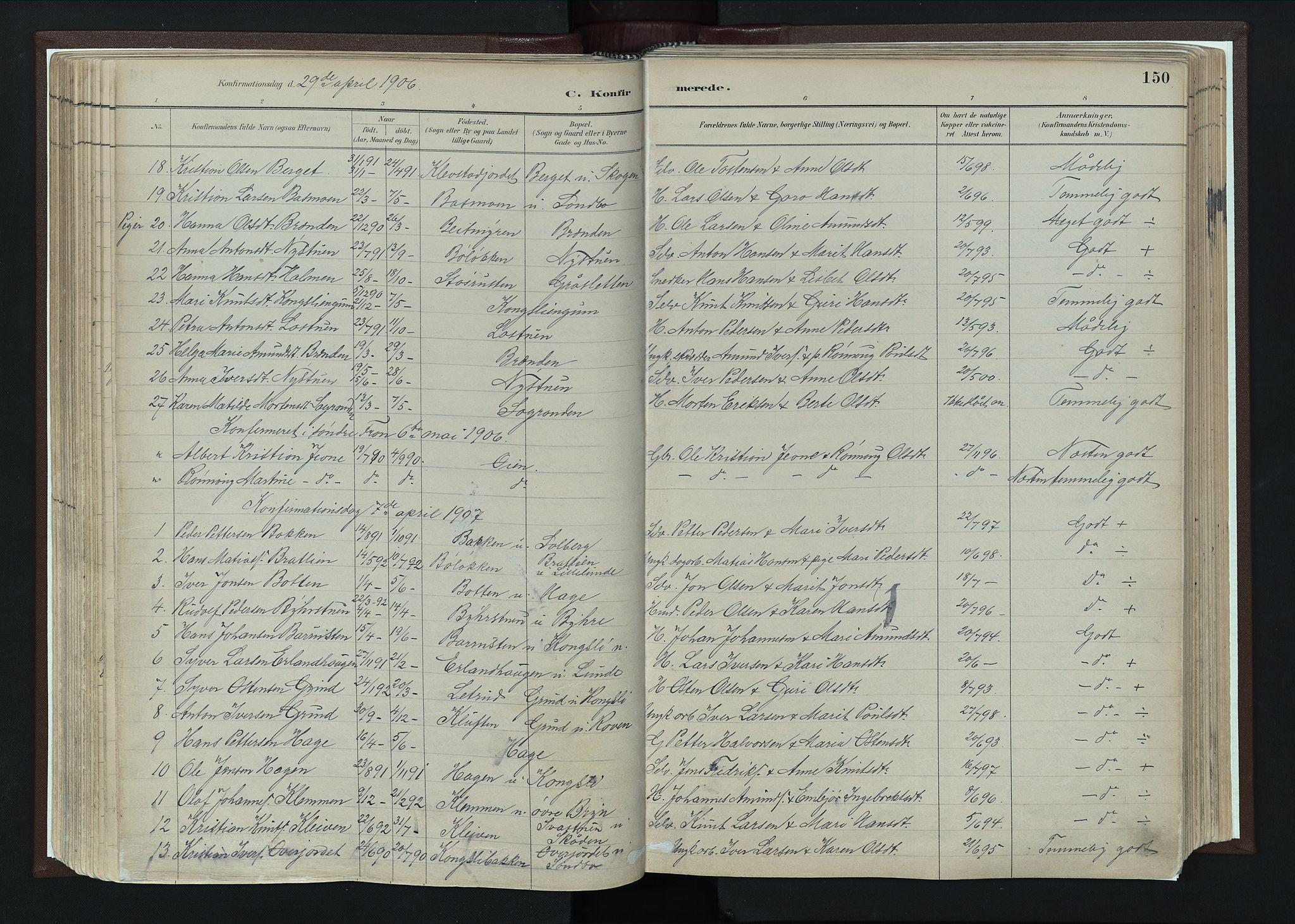 SAH, Nord-Fron prestekontor, Ministerialbok nr. 4, 1884-1914, s. 150