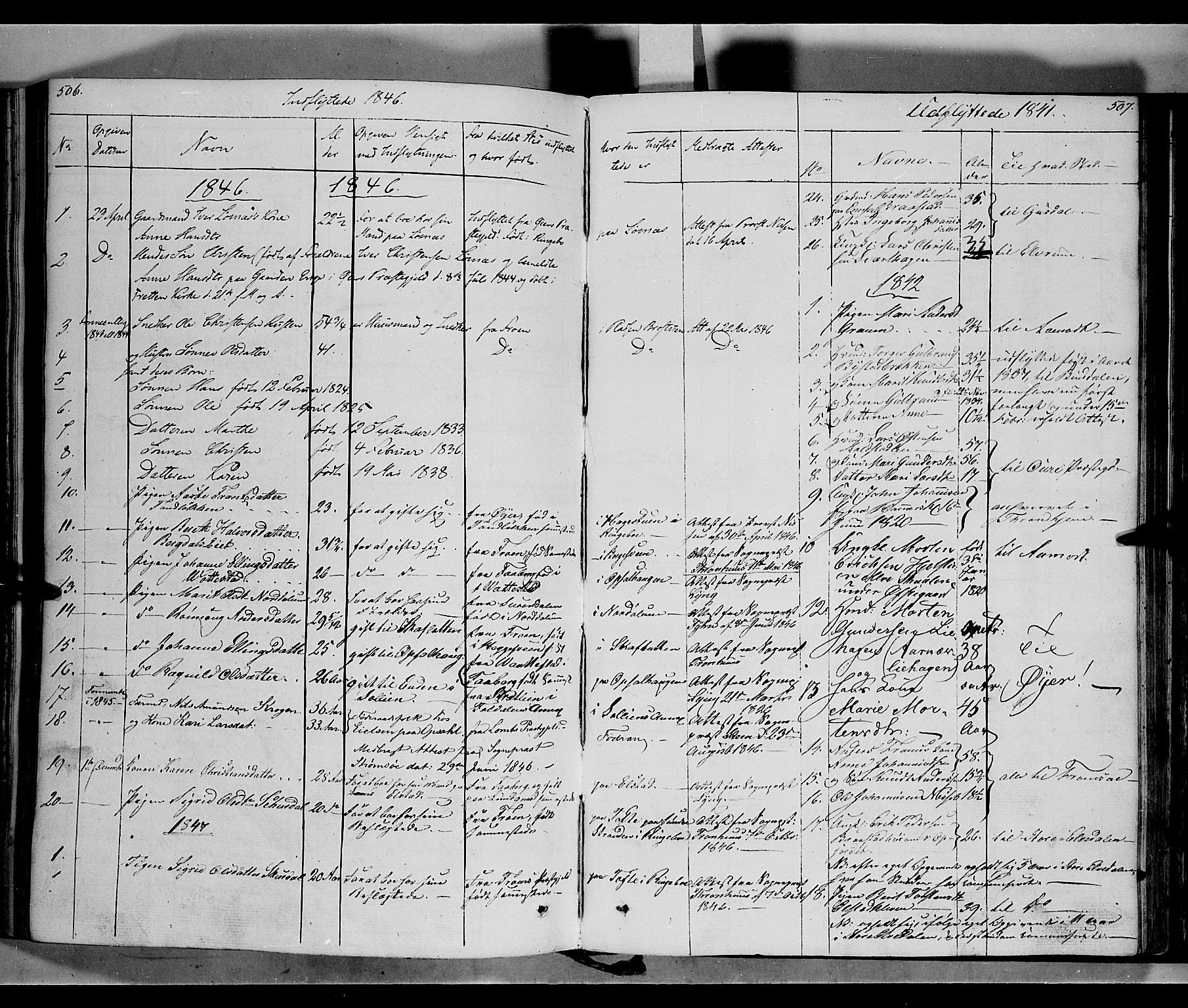 SAH, Ringebu prestekontor, Ministerialbok nr. 5, 1839-1848, s. 506-507