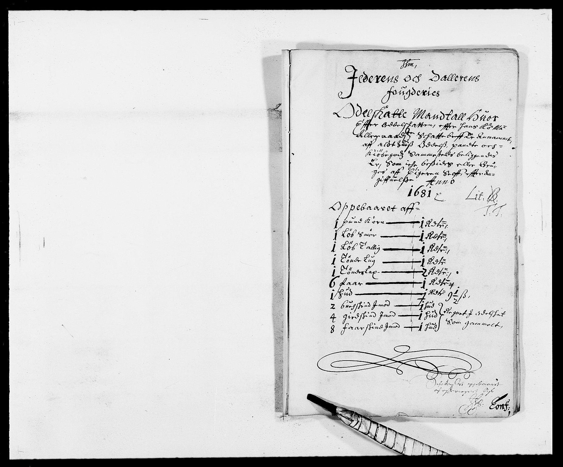 RA, Rentekammeret inntil 1814, Reviderte regnskaper, Fogderegnskap, R46/L2722: Fogderegnskap Jæren og Dalane, 1681, s. 37