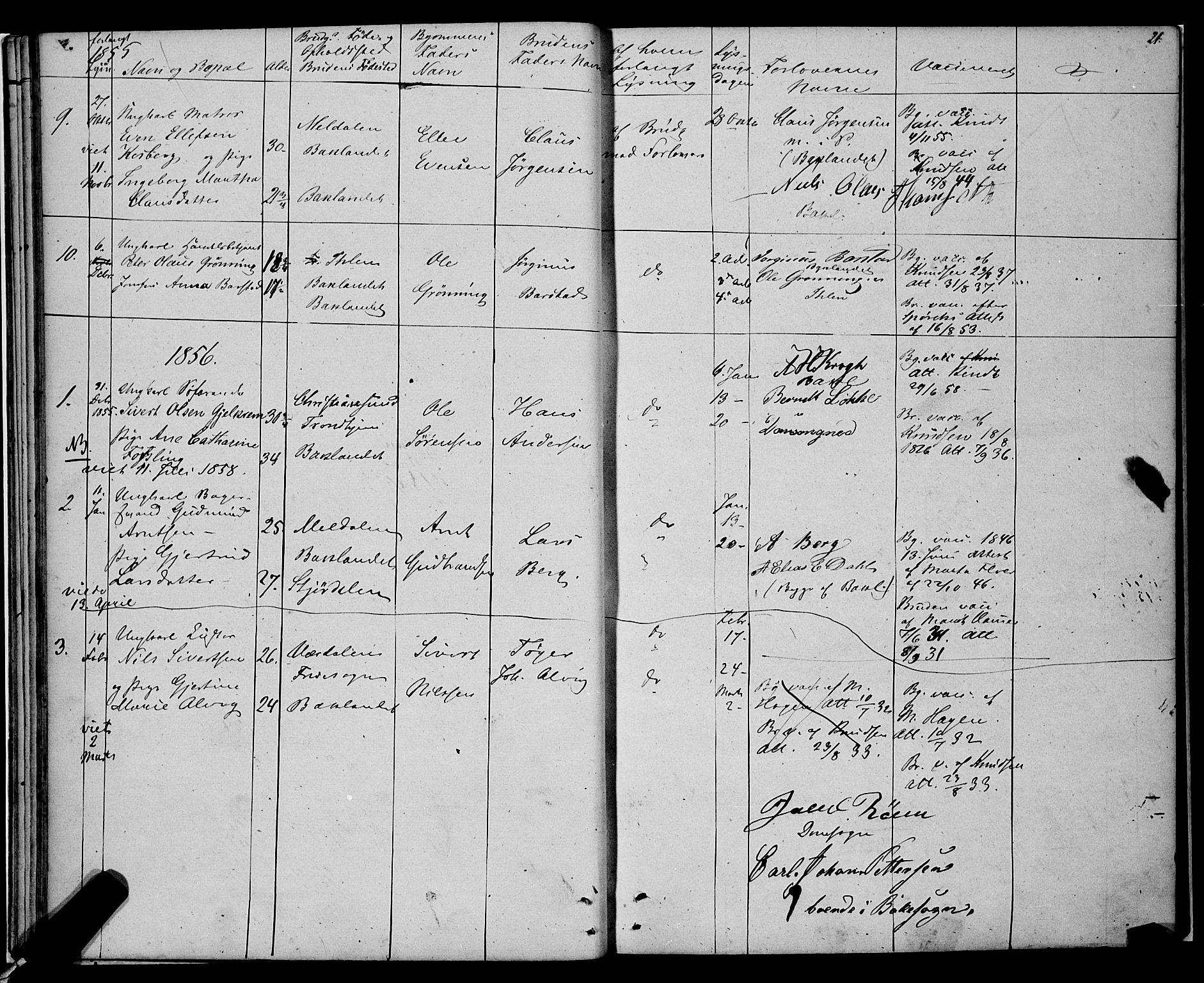 SAT, Ministerialprotokoller, klokkerbøker og fødselsregistre - Sør-Trøndelag, 604/L0187: Ministerialbok nr. 604A08, 1847-1878, s. 21