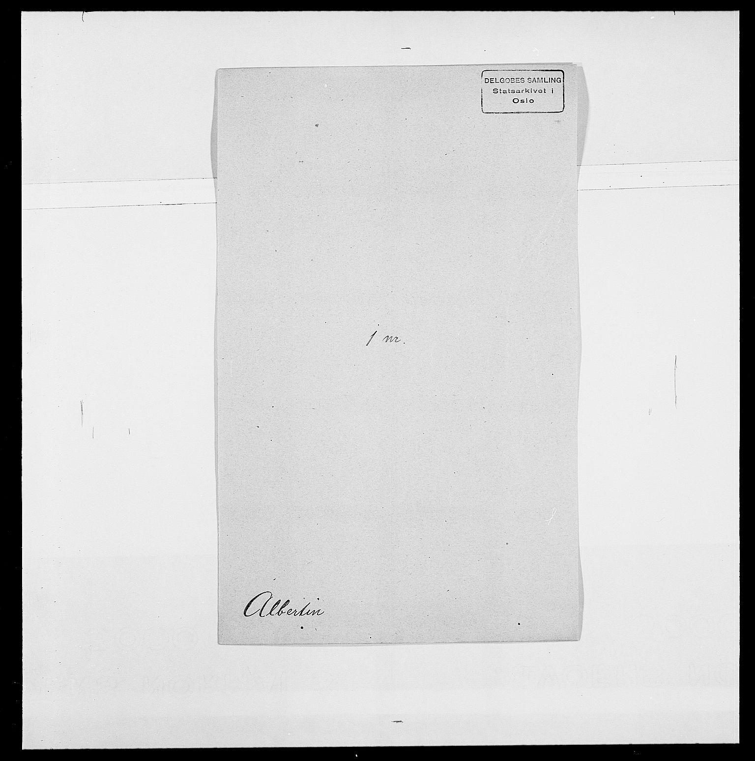 SAO, Delgobe, Charles Antoine - samling, D/Da/L0001: Aabye - Angerman, s. 372