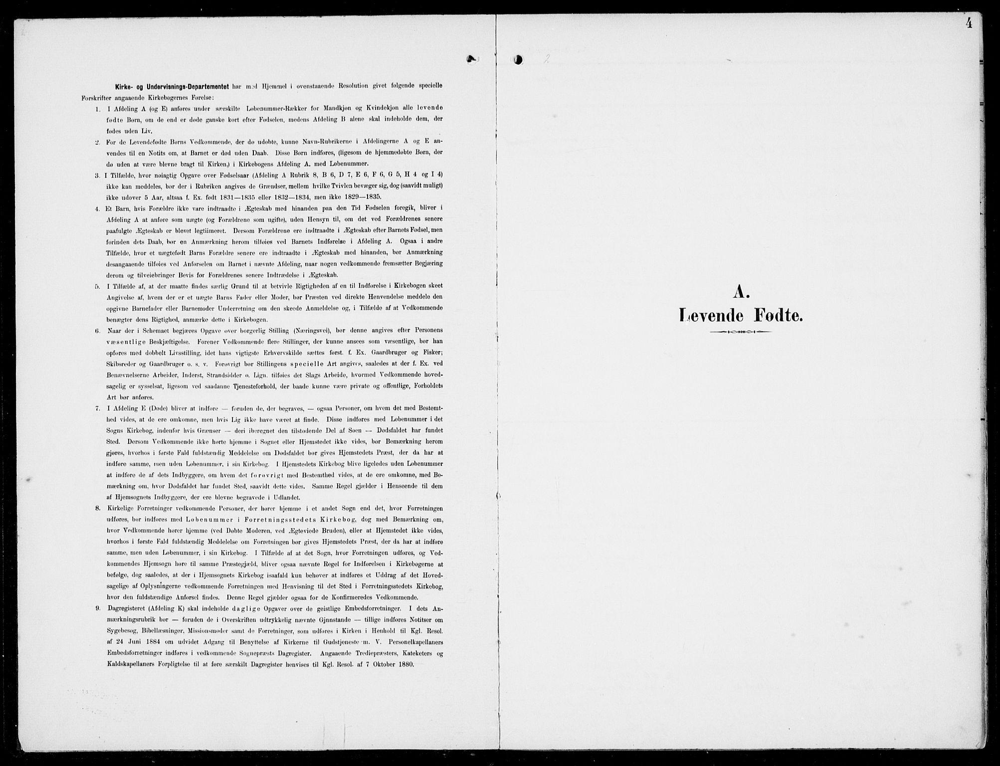 SAB, Hosanger Sokneprestembete, H/Haa: Ministerialbok nr. C  2, 1901-1925, s. 4