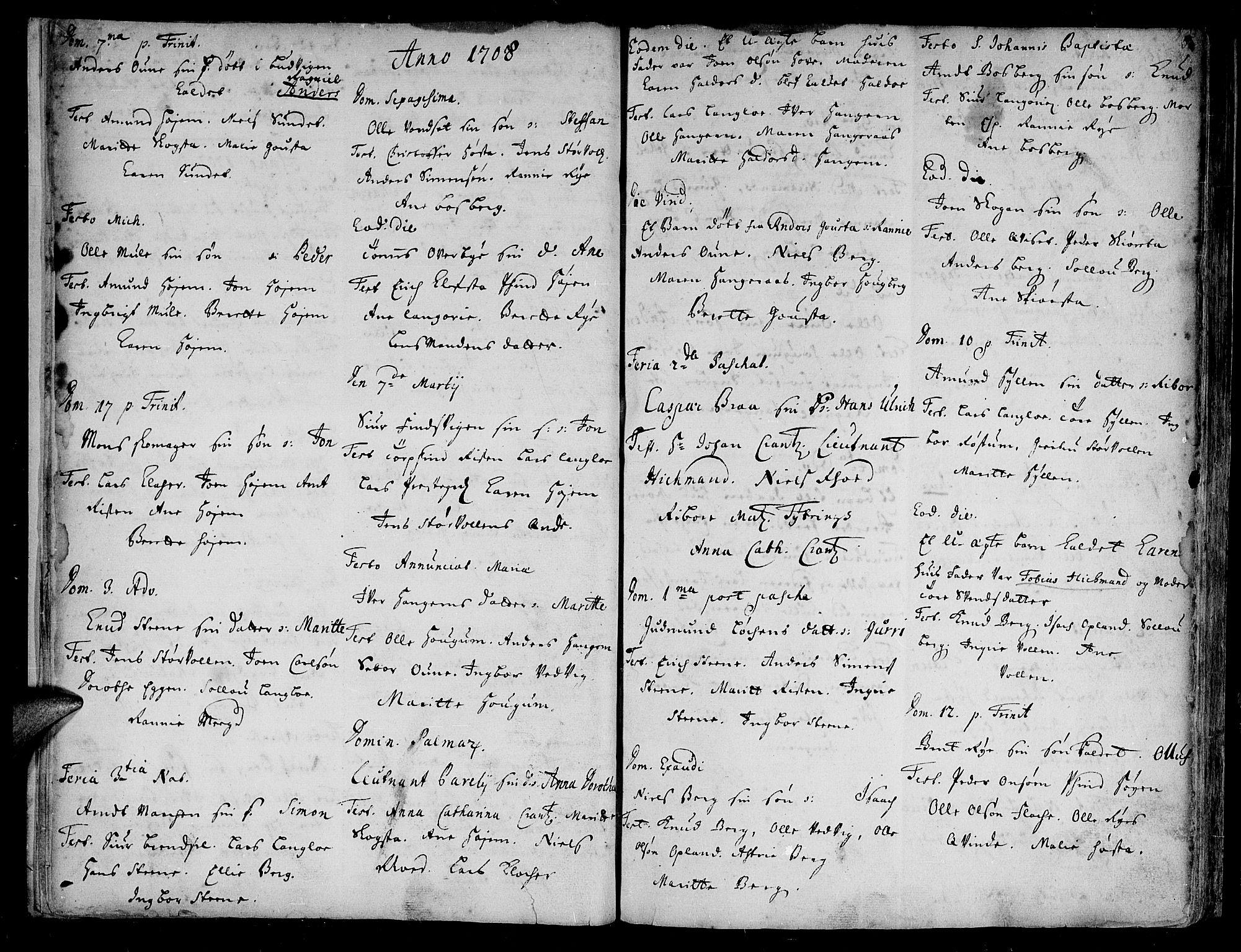 SAT, Ministerialprotokoller, klokkerbøker og fødselsregistre - Sør-Trøndelag, 612/L0368: Ministerialbok nr. 612A02, 1702-1753, s. 5