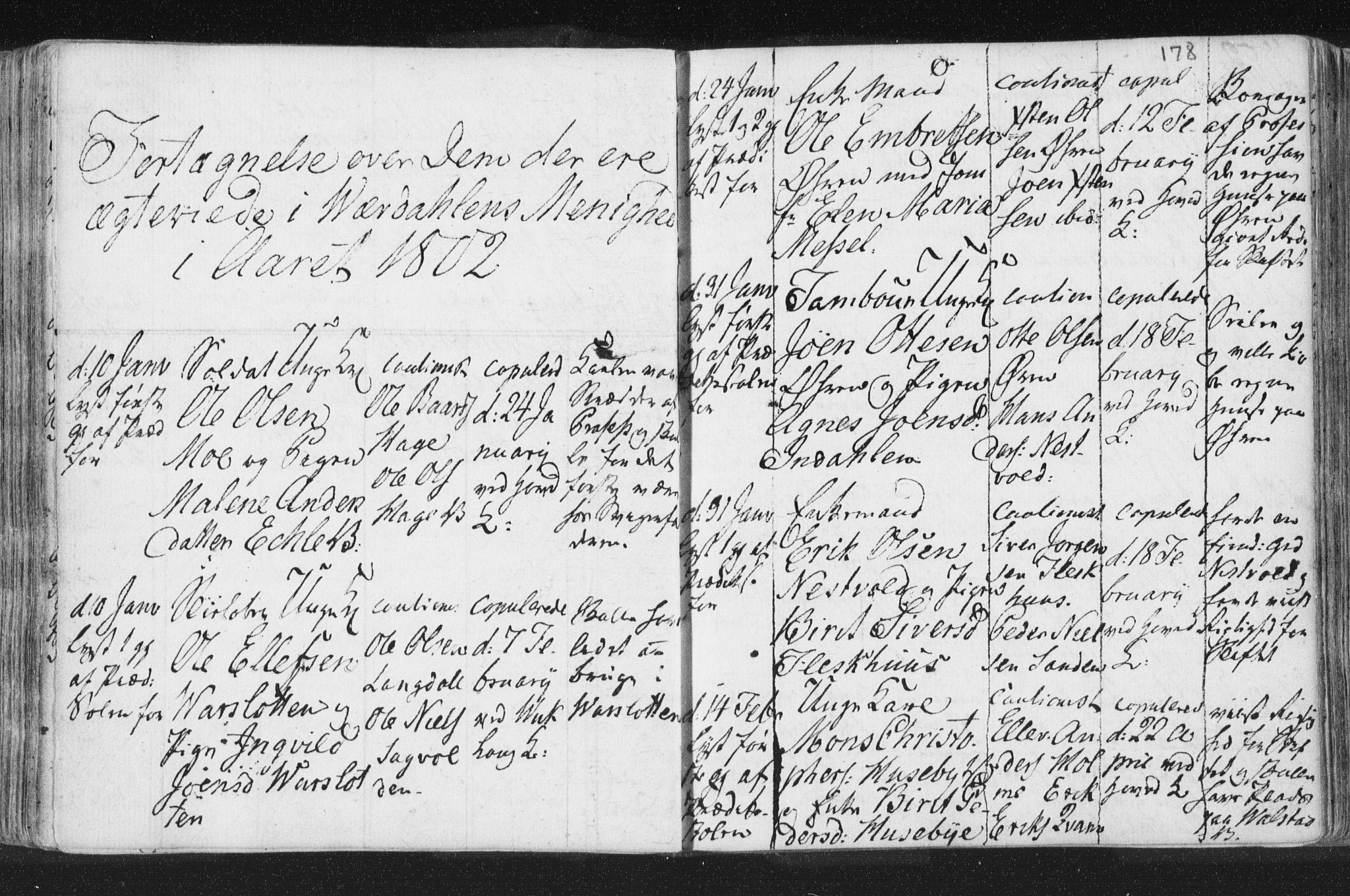 SAT, Ministerialprotokoller, klokkerbøker og fødselsregistre - Nord-Trøndelag, 723/L0232: Ministerialbok nr. 723A03, 1781-1804, s. 178