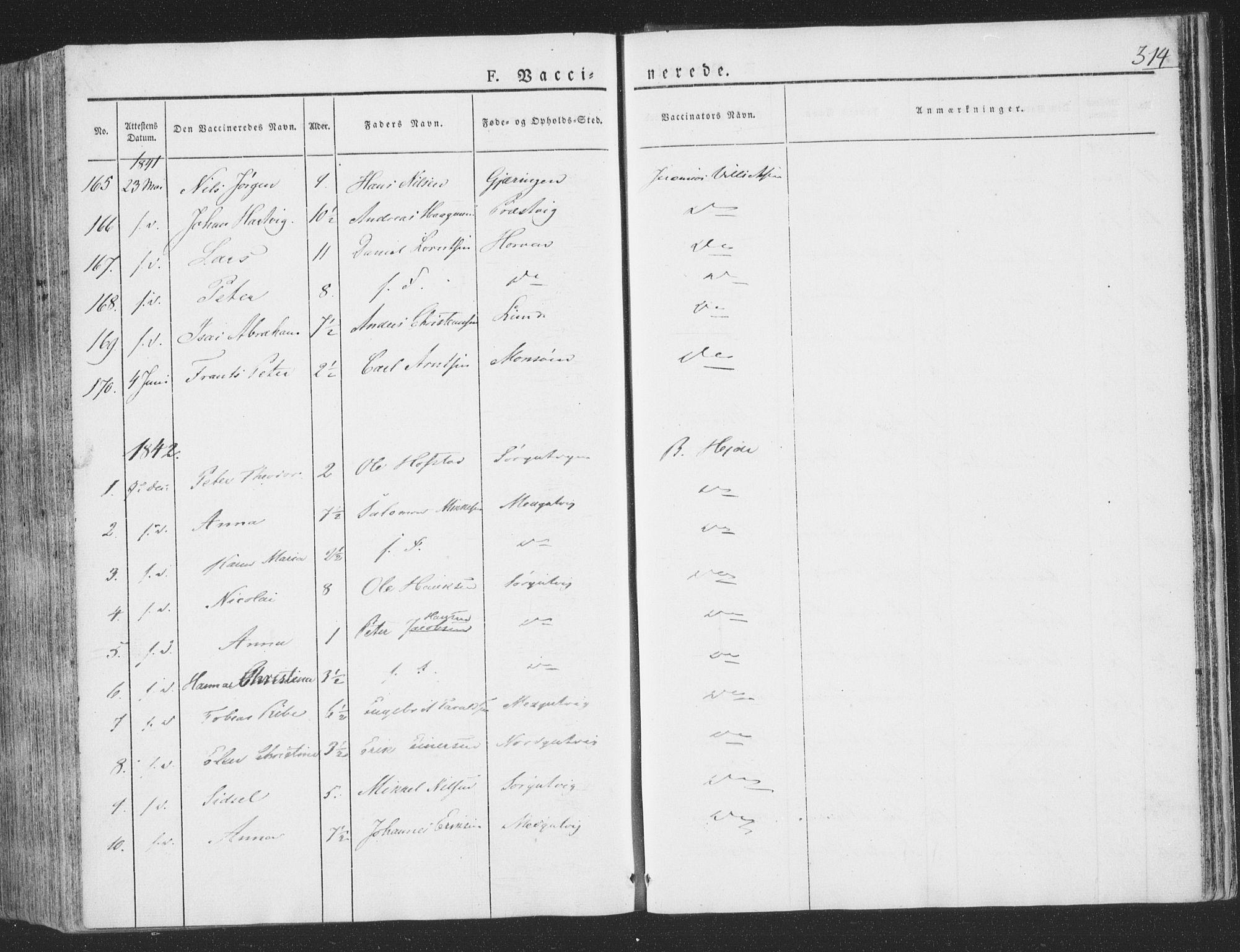 SAT, Ministerialprotokoller, klokkerbøker og fødselsregistre - Nord-Trøndelag, 780/L0639: Ministerialbok nr. 780A04, 1830-1844, s. 314