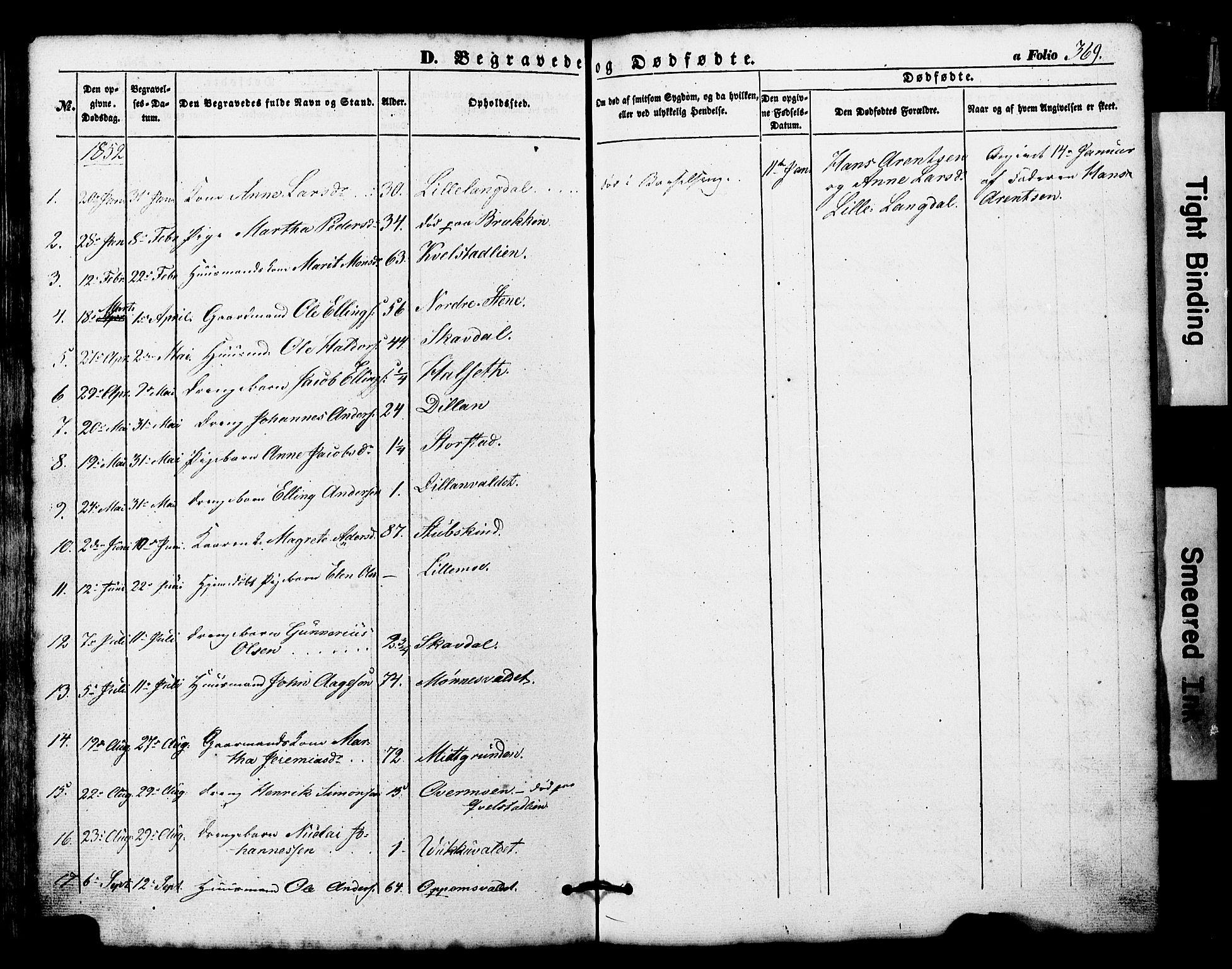 SAT, Ministerialprotokoller, klokkerbøker og fødselsregistre - Nord-Trøndelag, 724/L0268: Klokkerbok nr. 724C04, 1846-1878, s. 369
