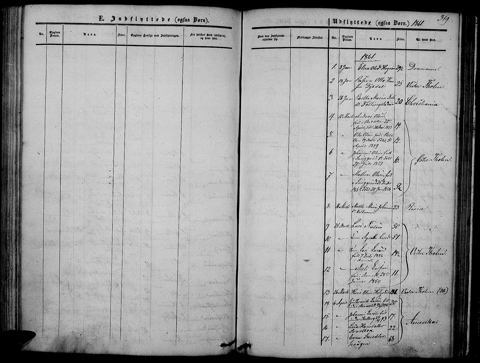 SAH, Vardal prestekontor, H/Ha/Hab/L0005: Klokkerbok nr. 5, 1854-1868, s. 319