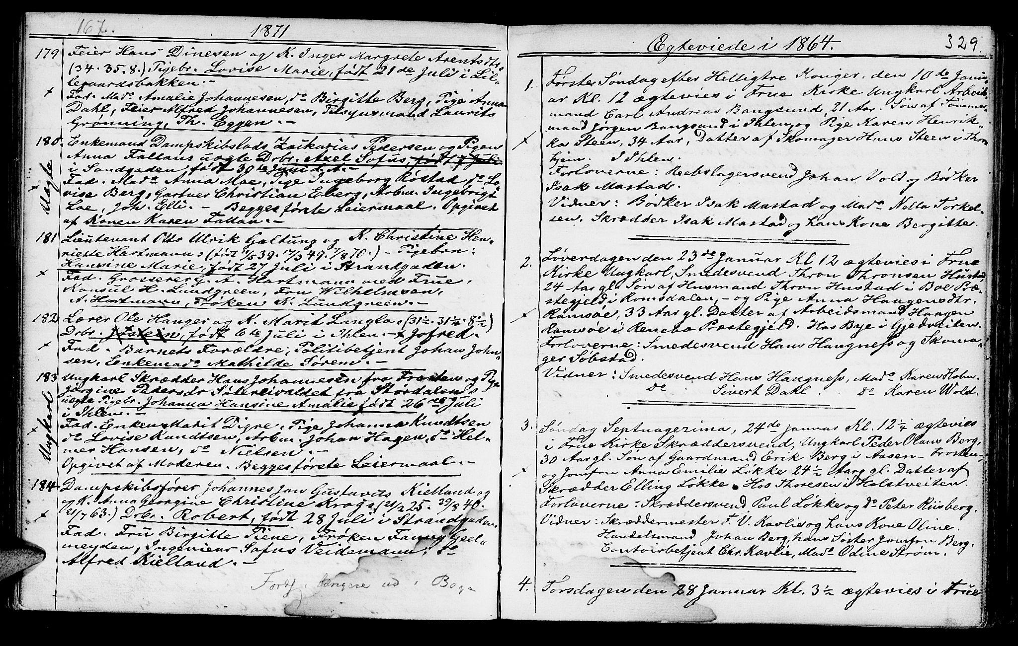 SAT, Ministerialprotokoller, klokkerbøker og fødselsregistre - Sør-Trøndelag, 602/L0140: Klokkerbok nr. 602C08, 1864-1872, s. 328-329