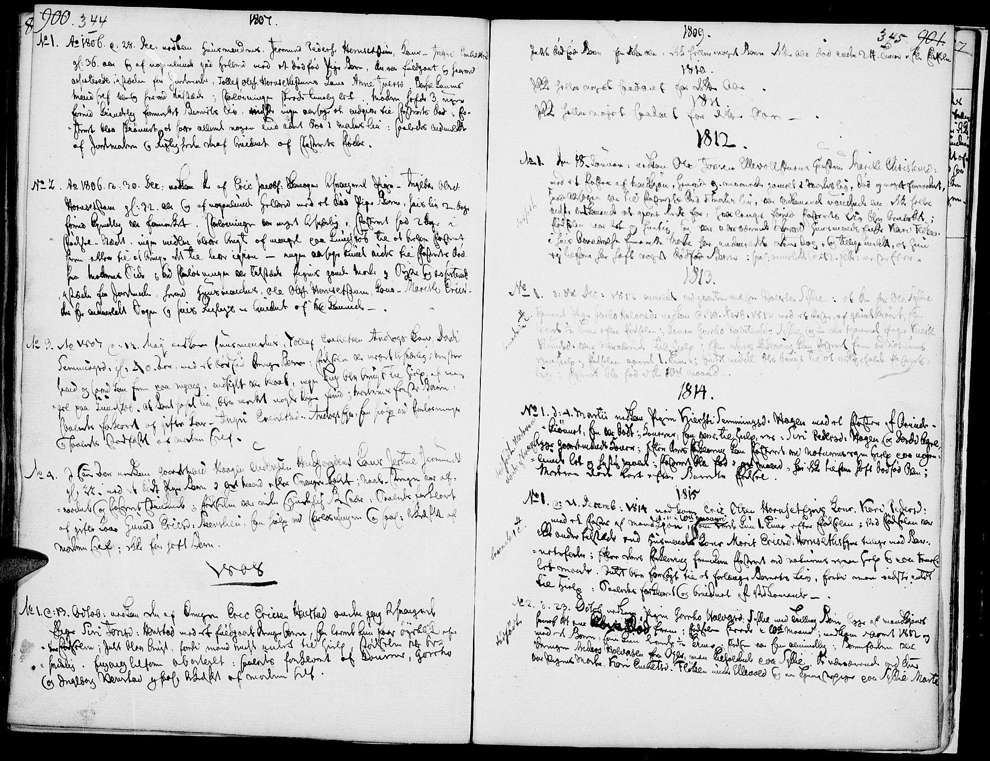 SAH, Rendalen prestekontor, H/Ha/Haa/L0002: Ministerialbok nr. 2, 1788-1814, s. 344-345