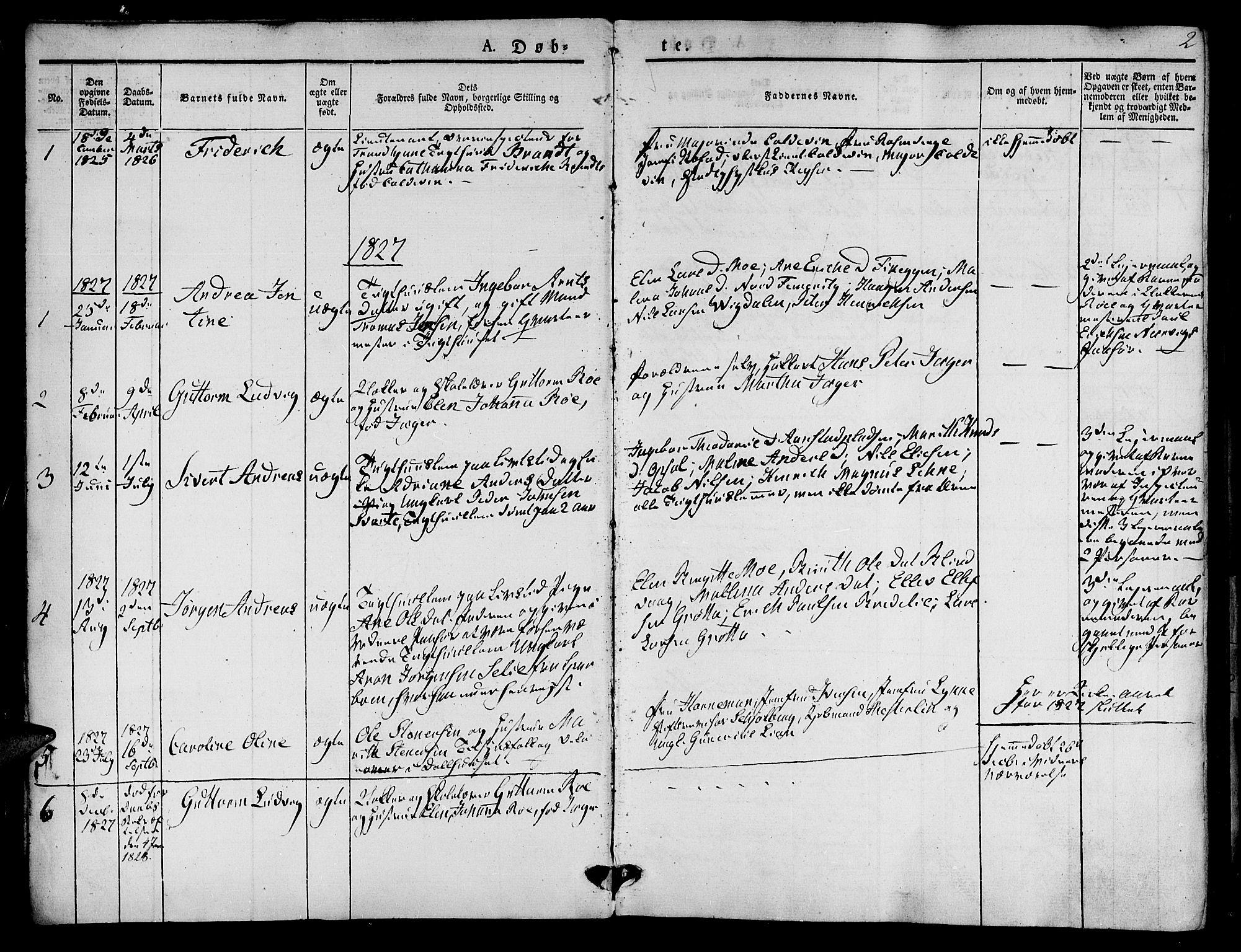 SAT, Ministerialprotokoller, klokkerbøker og fødselsregistre - Sør-Trøndelag, 623/L0468: Ministerialbok nr. 623A02, 1826-1867, s. 2