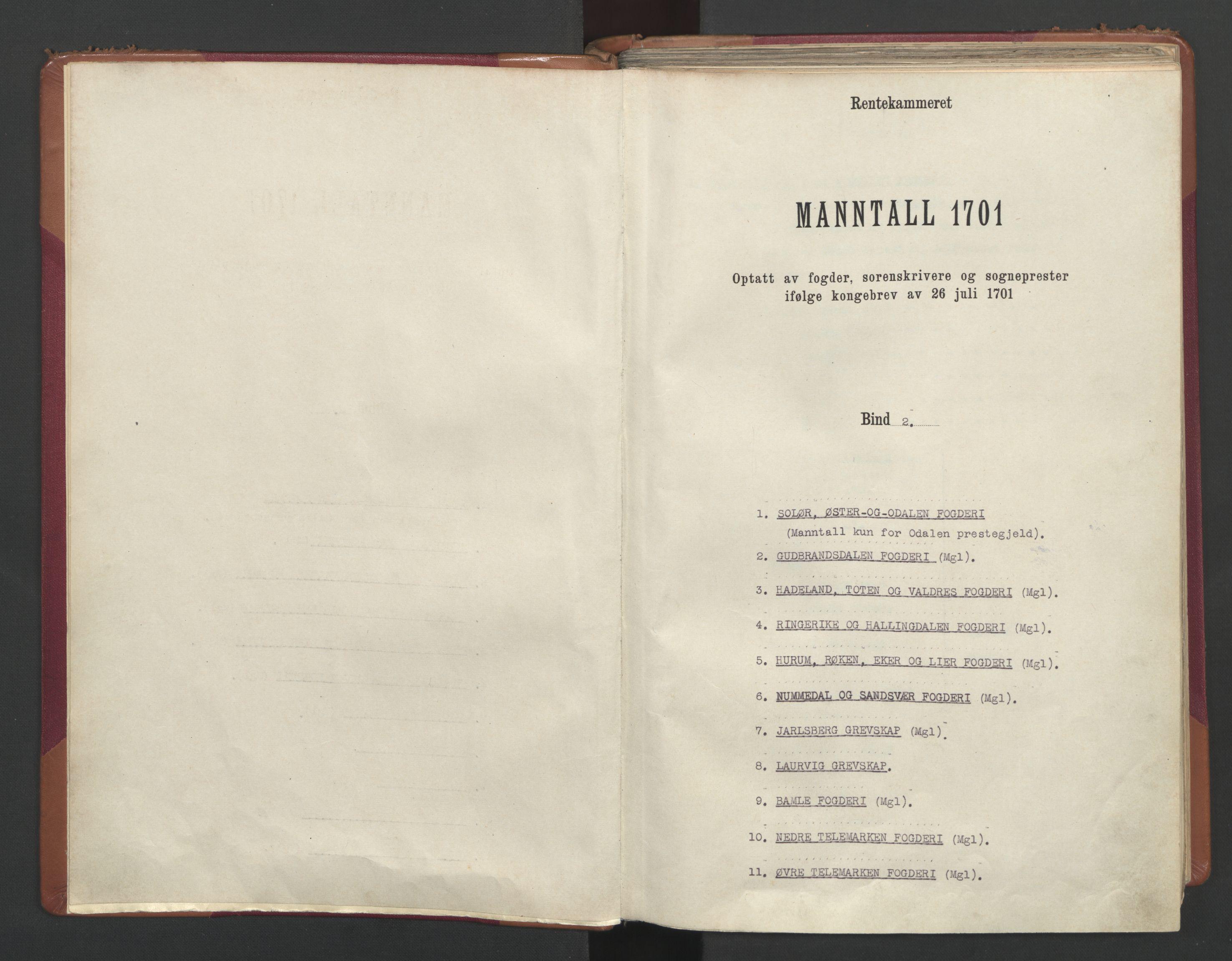 RA, Manntallet 1701, nr. 2: Solør, Odal og Østerdal fogderi og Larvik grevskap, 1701, s. upaginert