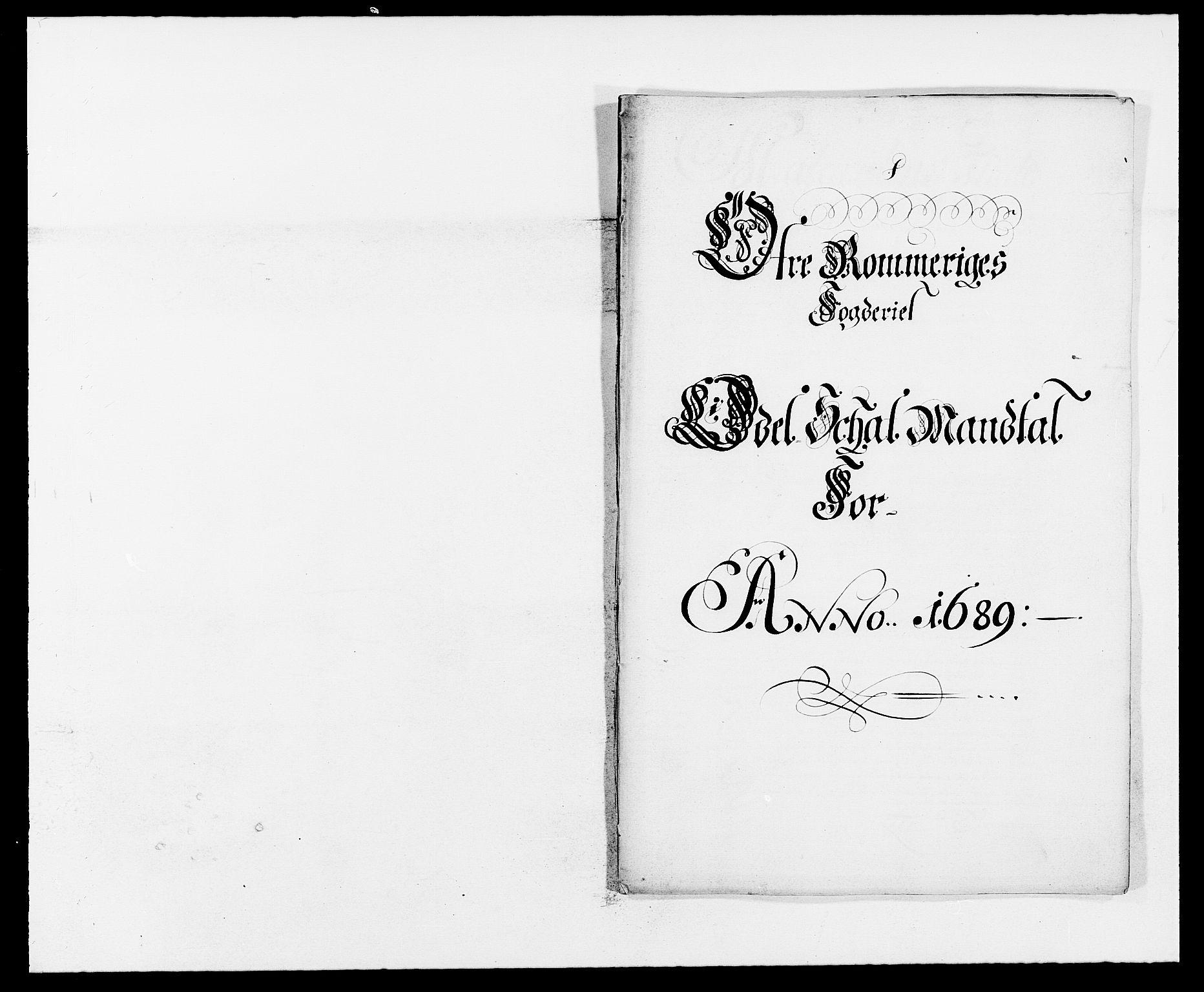 RA, Rentekammeret inntil 1814, Reviderte regnskaper, Fogderegnskap, R12/L0701: Fogderegnskap Øvre Romerike, 1689, s. 154