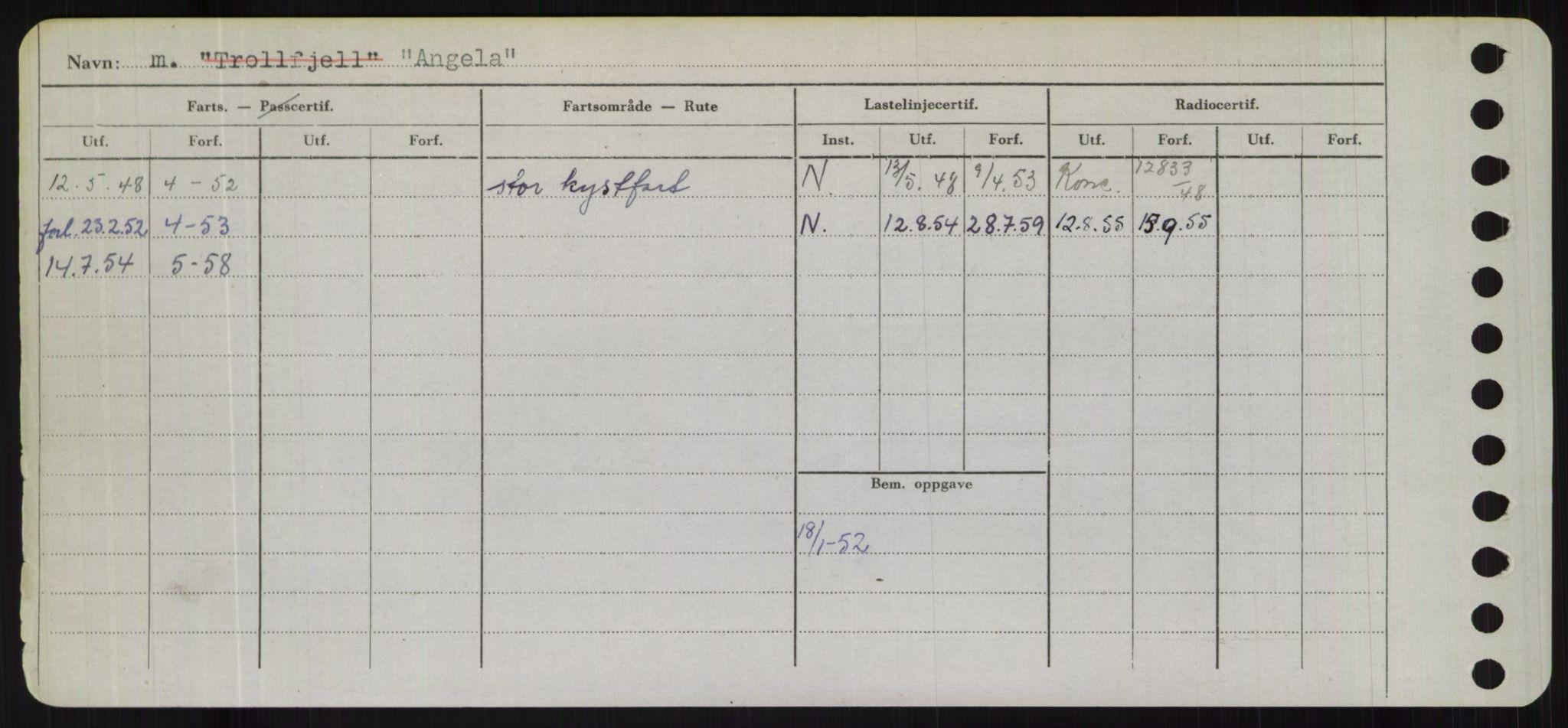 RA, Sjøfartsdirektoratet med forløpere, Skipsmålingen, H/Hd/L0001: Fartøy, A-Anv, s. 610