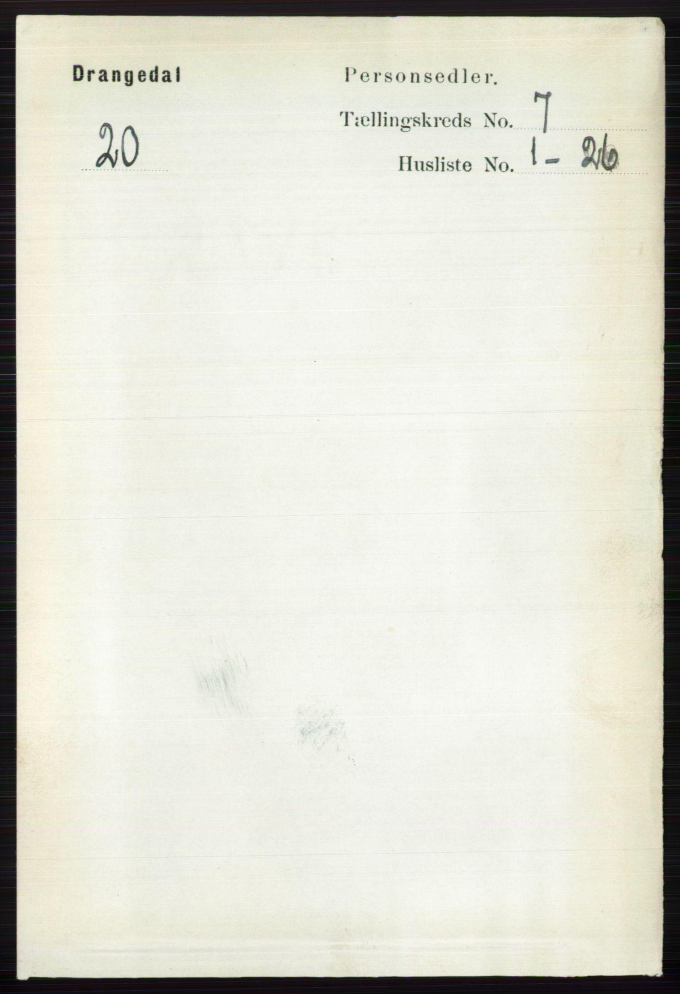 RA, Folketelling 1891 for 0817 Drangedal herred, 1891, s. 2395