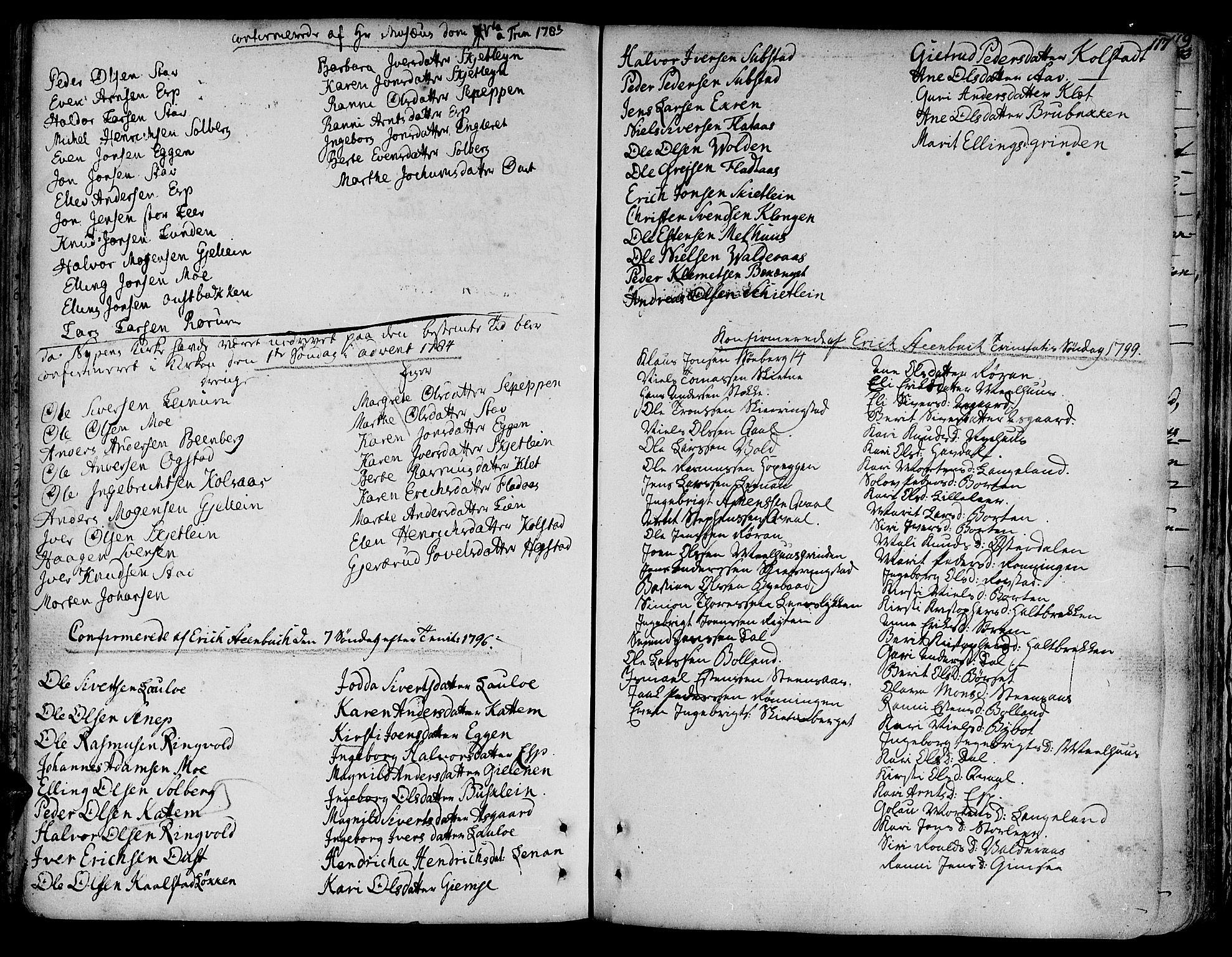 SAT, Ministerialprotokoller, klokkerbøker og fødselsregistre - Sør-Trøndelag, 691/L1063: Ministerialbok nr. 691A02 /3, 1768-1815, s. 117