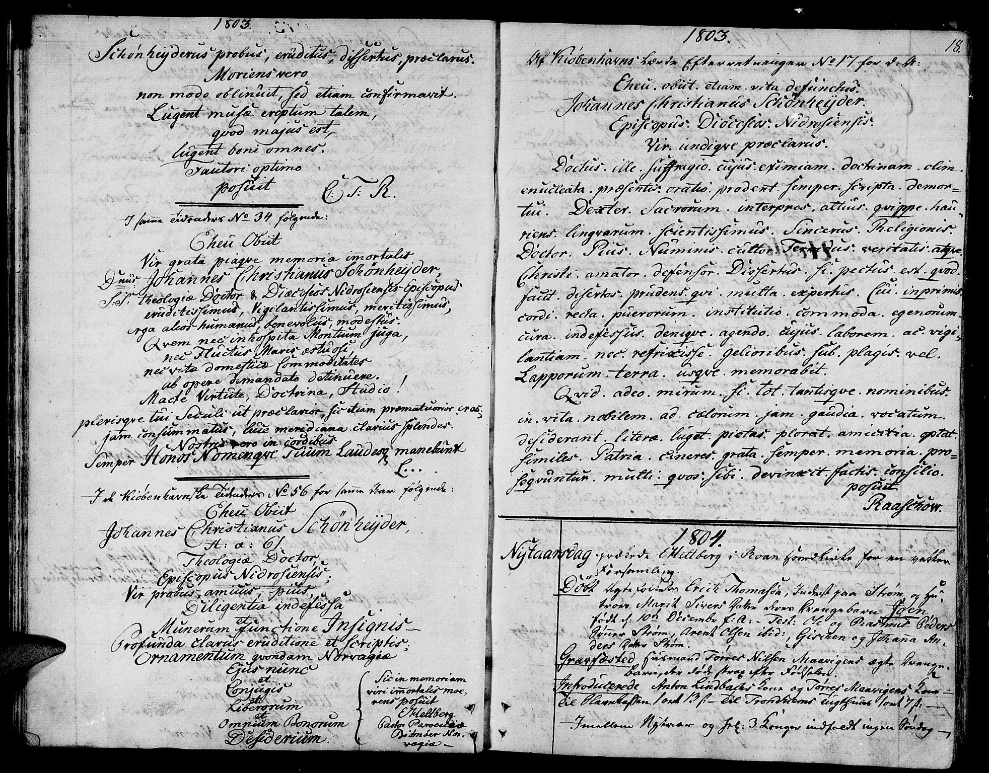 SAT, Ministerialprotokoller, klokkerbøker og fødselsregistre - Sør-Trøndelag, 657/L0701: Ministerialbok nr. 657A02, 1802-1831, s. 18
