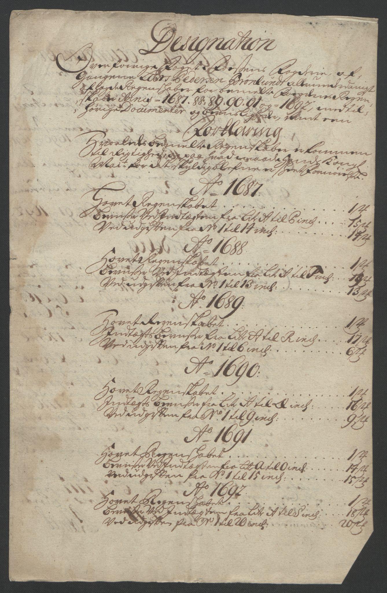 RA, Rentekammeret inntil 1814, Reviderte regnskaper, Fogderegnskap, R57/L3849: Fogderegnskap Fosen, 1692-1693, s. 305