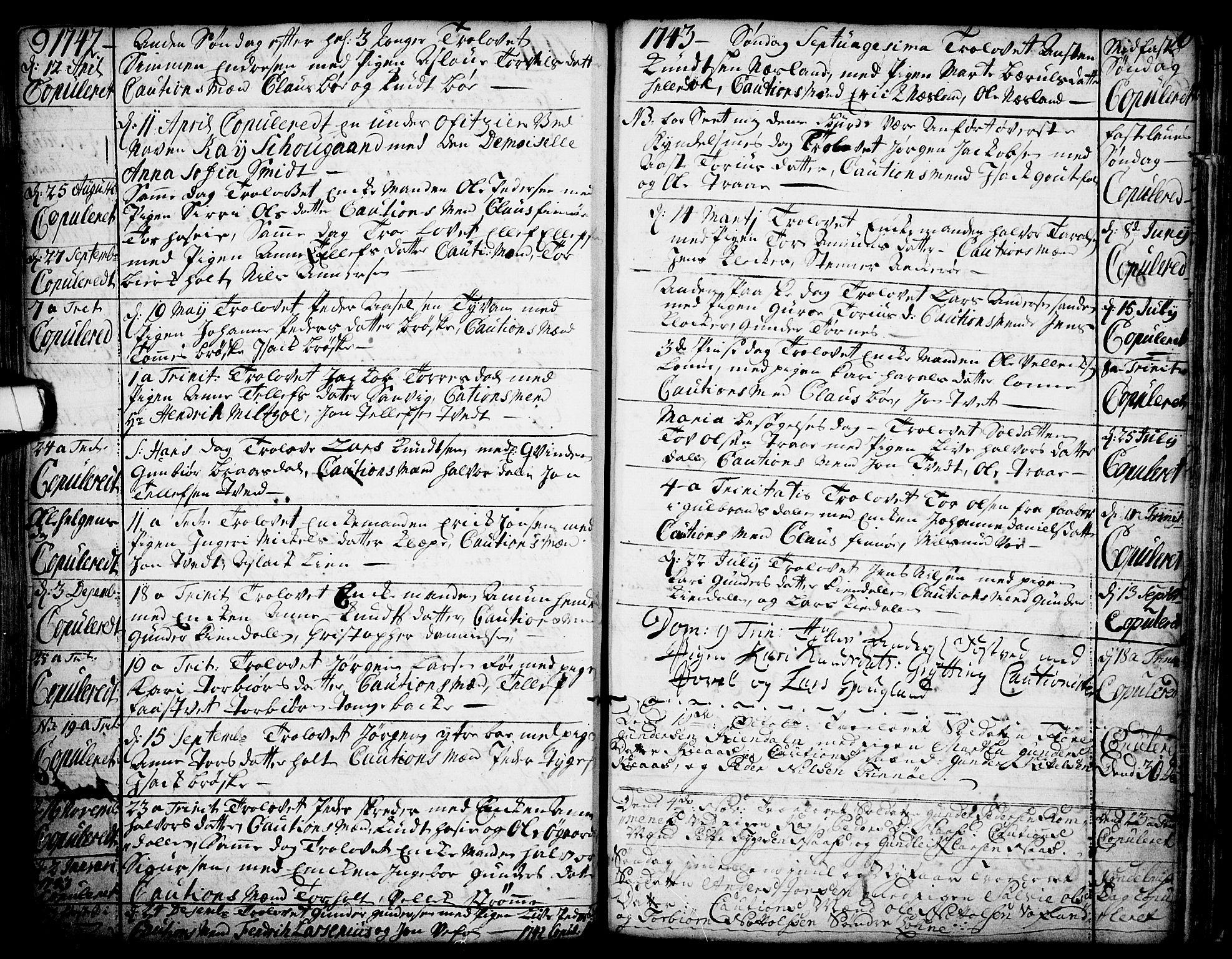 SAKO, Drangedal kirkebøker, F/Fa/L0002: Ministerialbok nr. 2, 1733-1753, s. 9-10