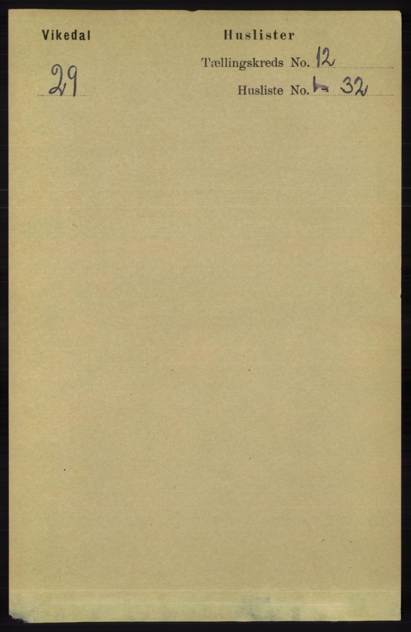 RA, Folketelling 1891 for 1157 Vikedal herred, 1891, s. 3147